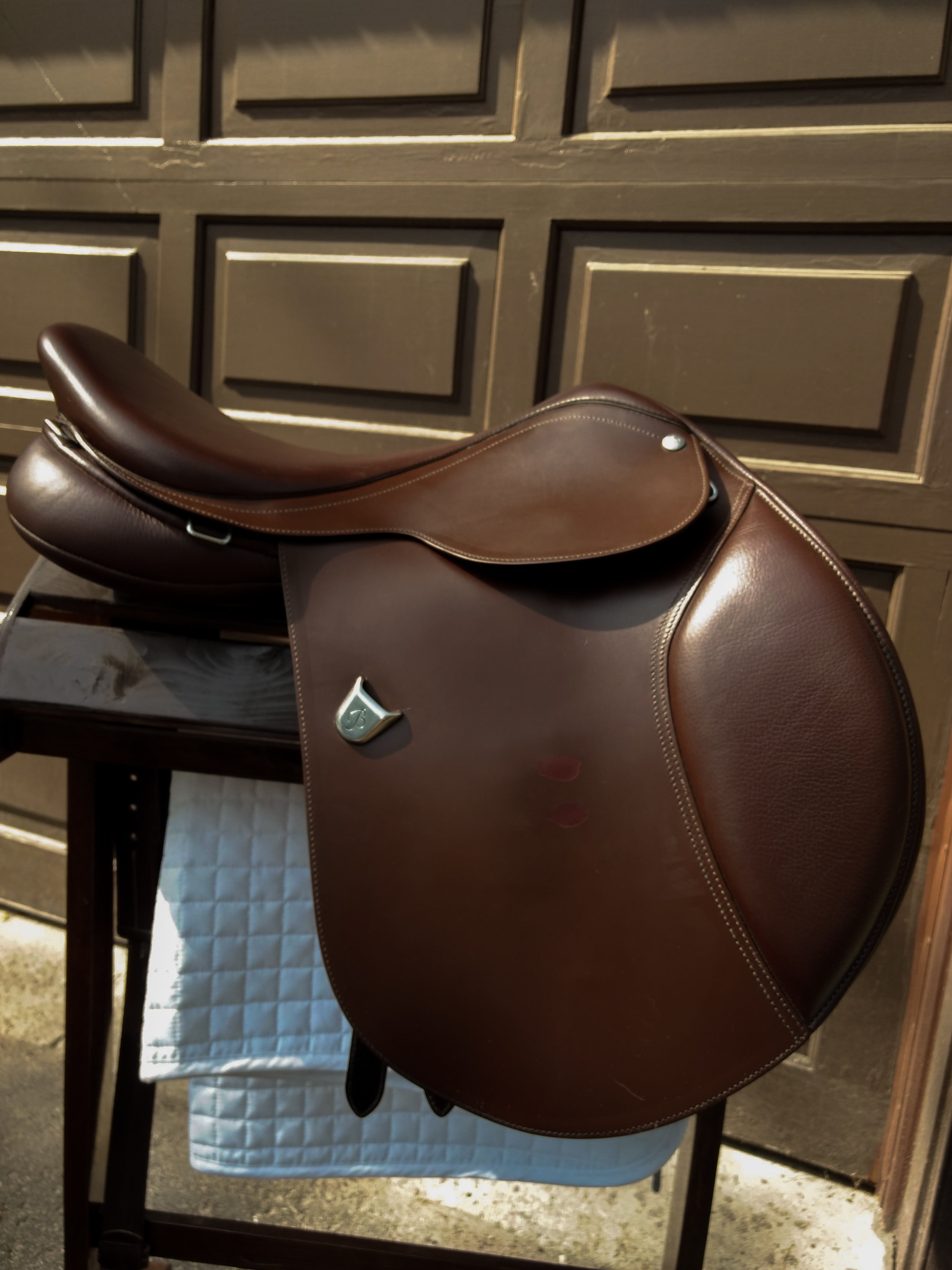 Right side of my saddle before the repair