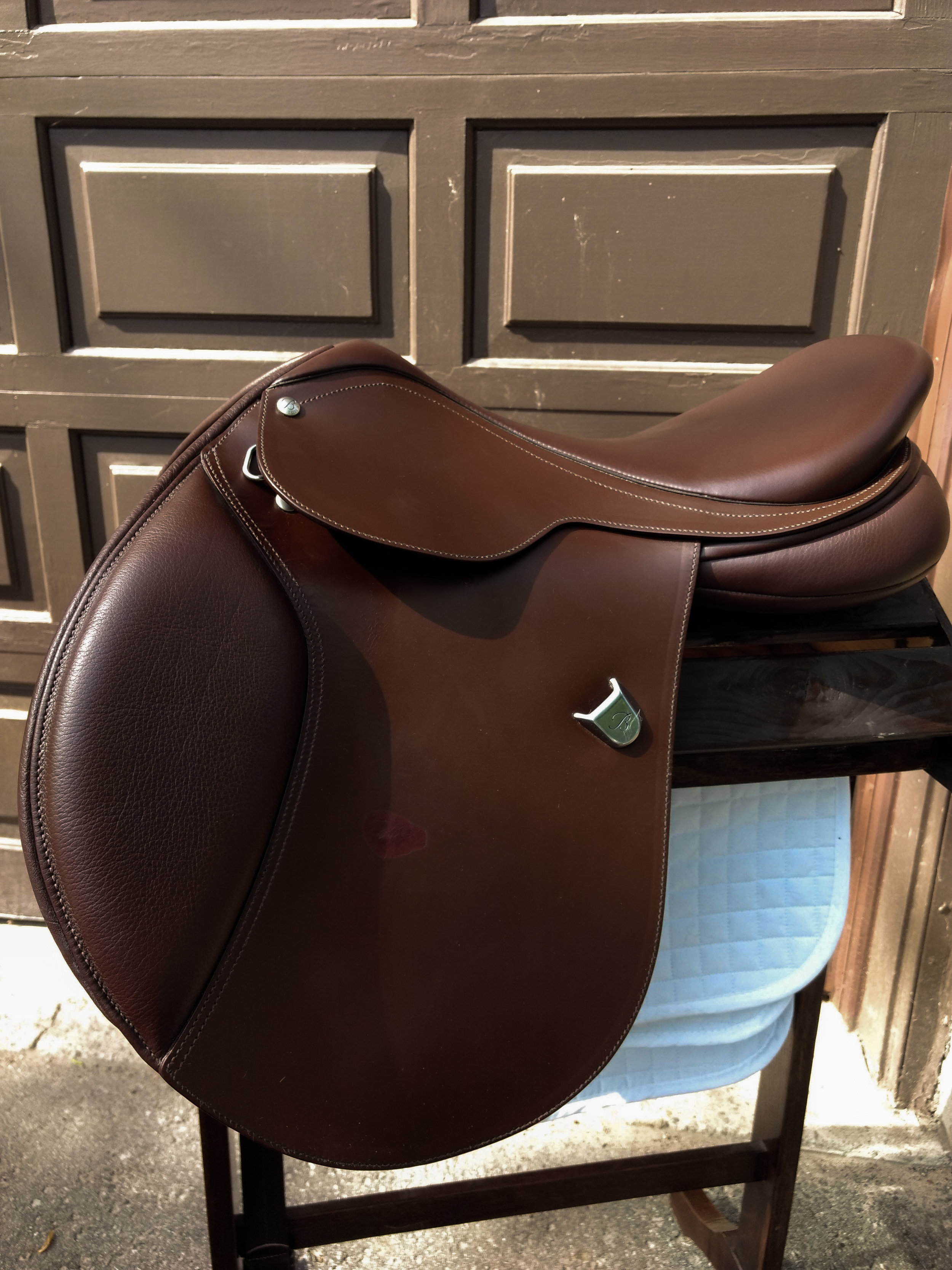 Left side of my saddle before the repair