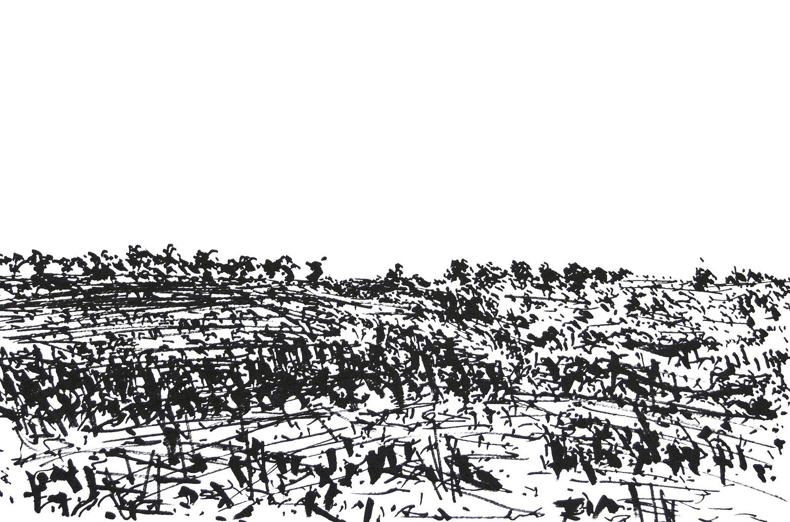 Landmark   Ink markers on paper 35x50cm  2014