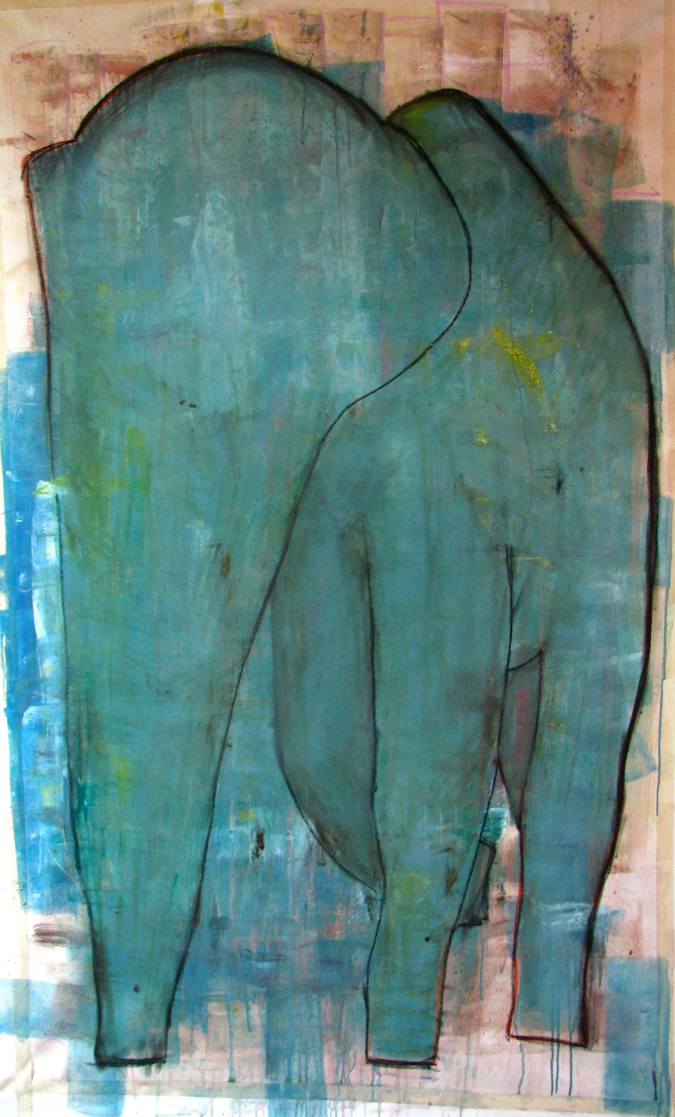 Elephant    Acrylic on canvas 150x250cm  2010