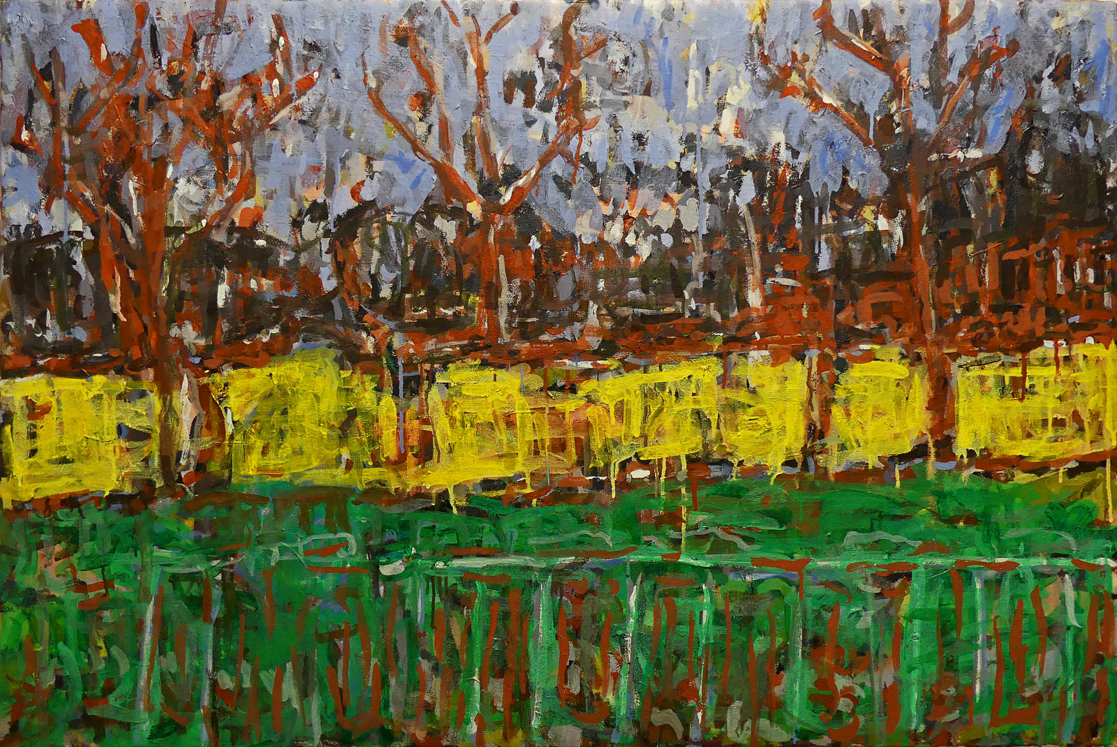 The Park, surrender  Mixed media on canvas 80x120cm  2018