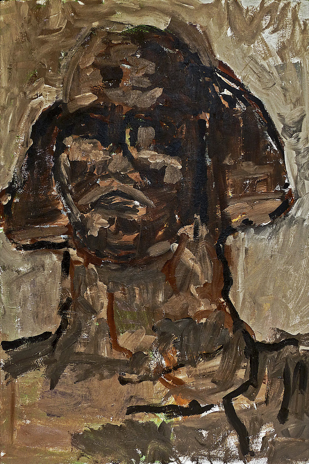 Sphinx  Mixed media on canvas 120x80cm  2019