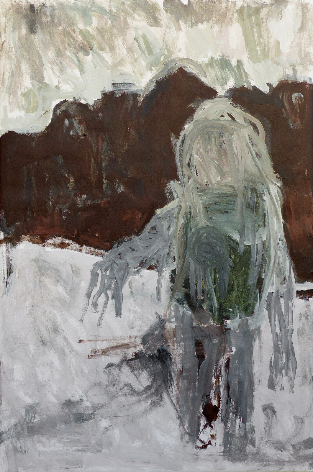 Grandson (postcard from the moon)  Acrylic on canvas 120x80cm  2019