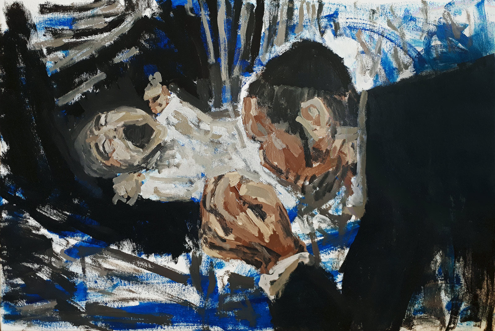 Newcomer  Acrylic on canvas 120x80cm  2019