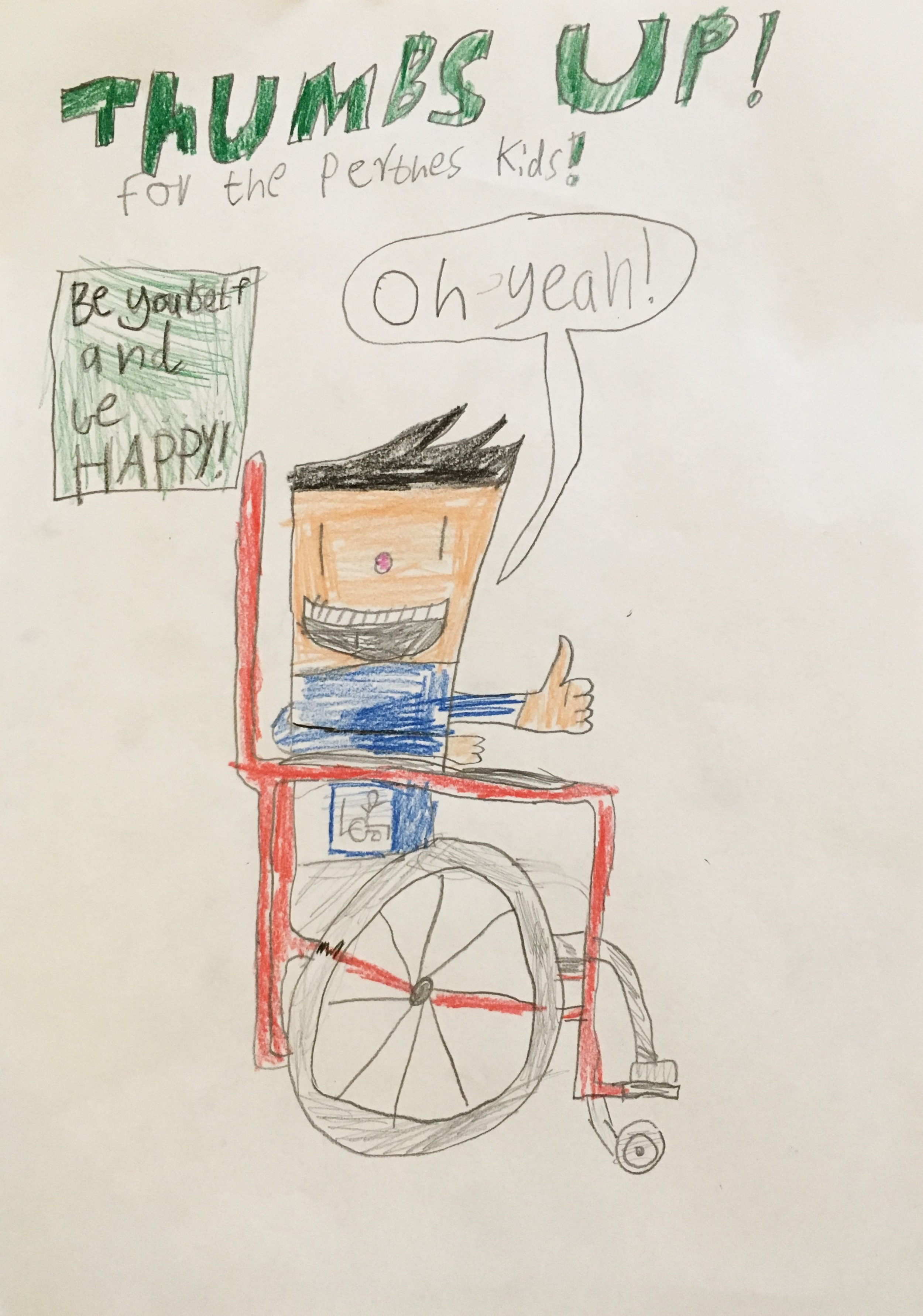 005 - THUMBS UP by Ewan Waters (age 8) in Melbourne, Australia