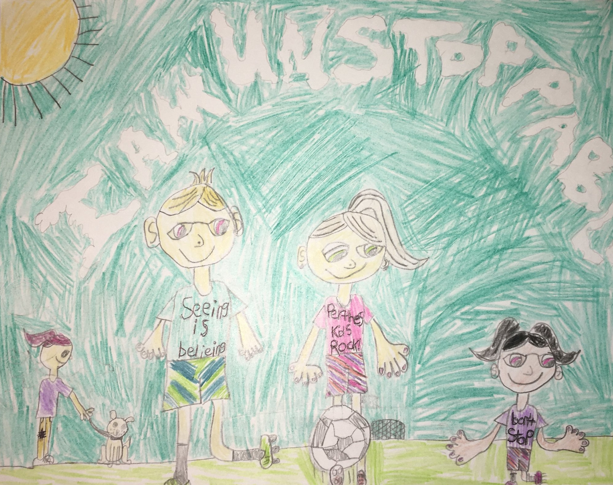 007 - I AM UNSTOPPABLE by Paisley Abbott (age 9) in Radford, Virginia, USA