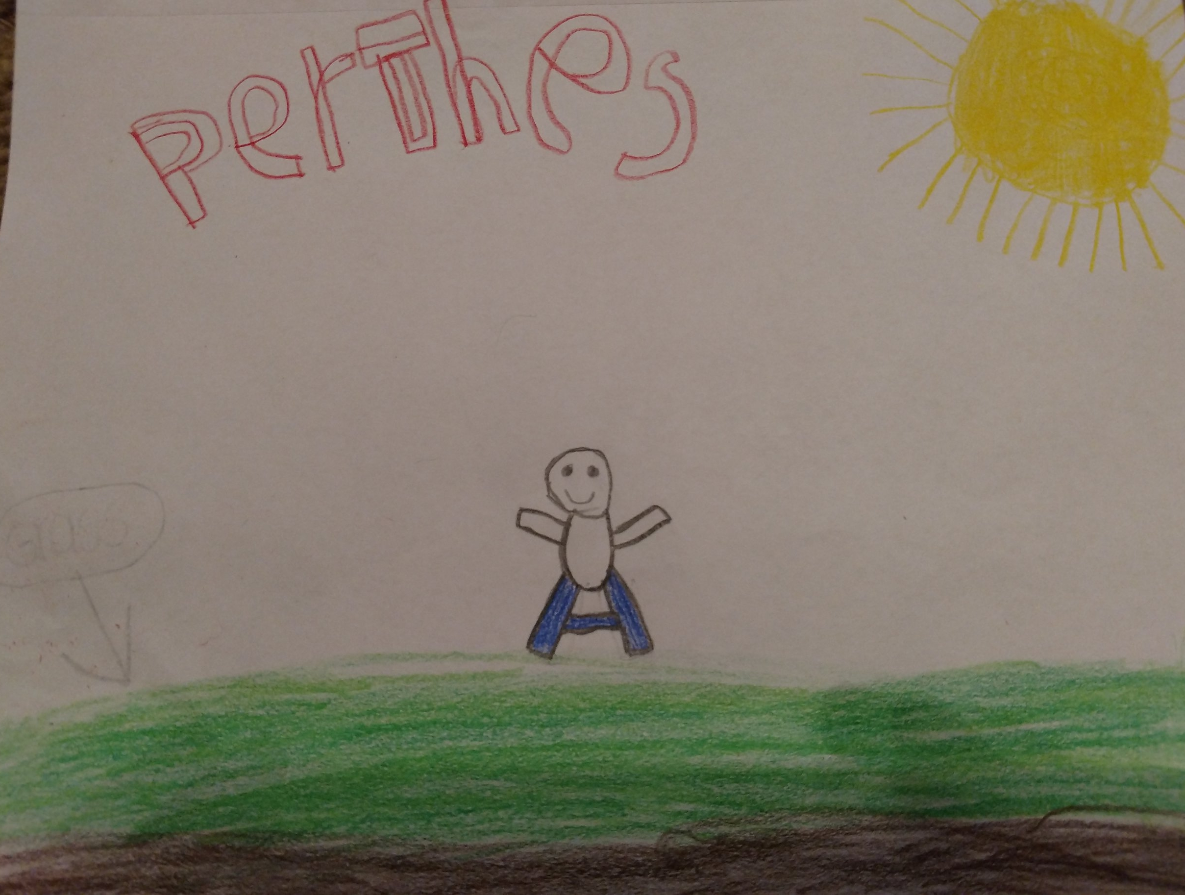 008 - PERTHES by Gavin Harris (age 10) in Paris, Tennessee, USA