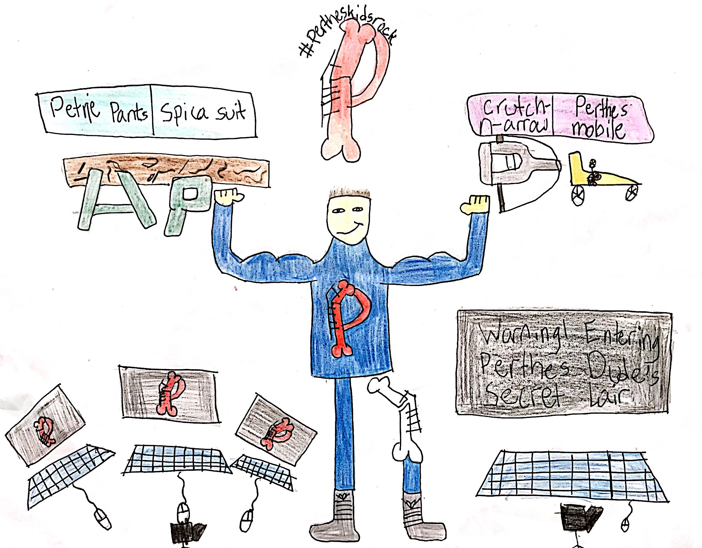 014 - PERTHES IS A SUPERPOWER by Luai Kakish (age 9) in Marlborough, Massachusetts, USA