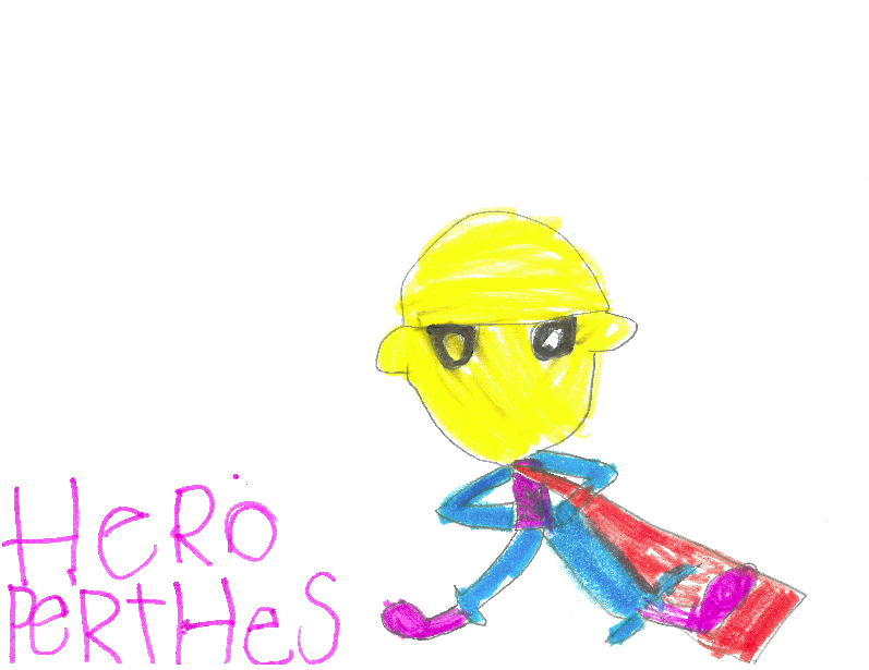 019 - PERTHES HERO by Maren Clark (age 5, her brother has Perthes) in Hudson, Wisconsin, USA