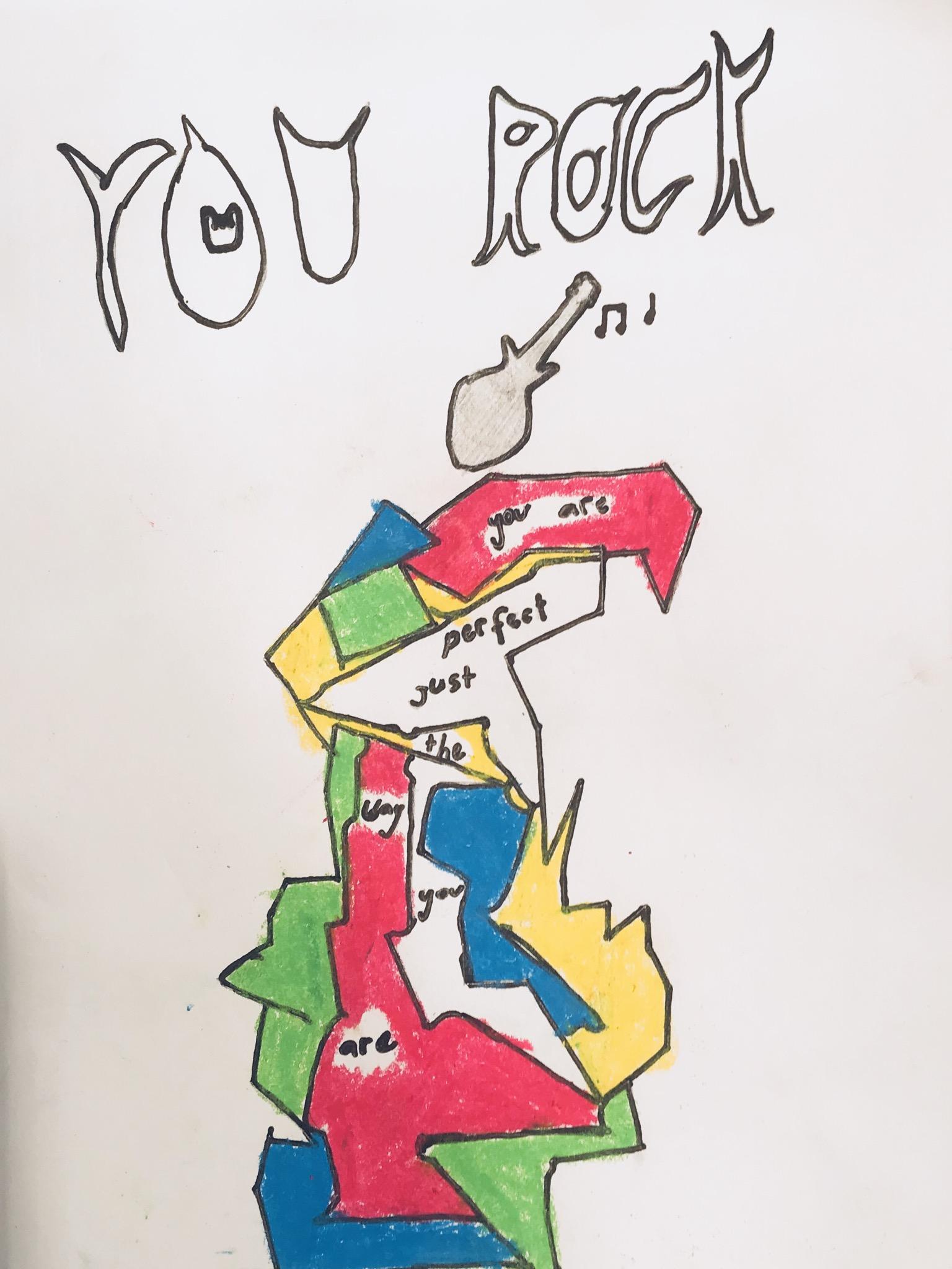 020 - YOU ROCK by Lydia Jeremijenko (age 9) in Gold Coast, Australia