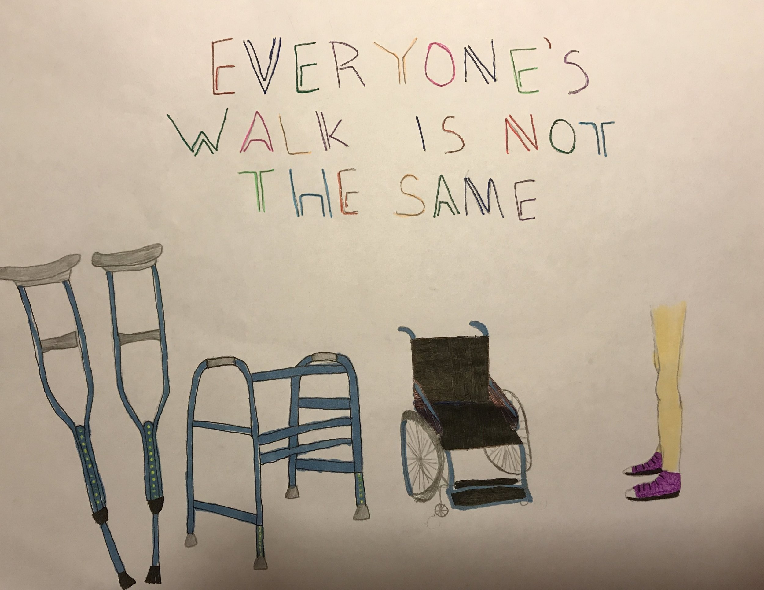 022 - EVERYONE'S WALK IS NOT THE SAME by Ainsley Beaver (age 13) in Knoxville, Tennessee, USA