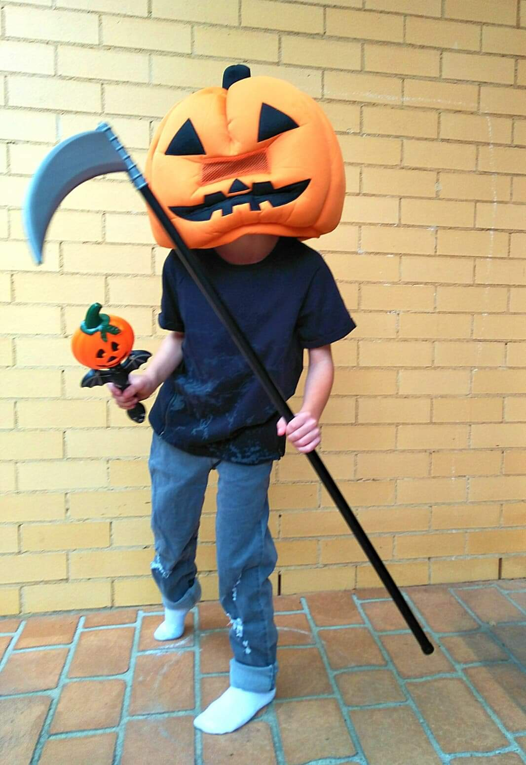 "Copy of Aidyn Zecevic, Age 10, Corrimal, Australia, Perthes (right hip), ""Halloween Reaper"""