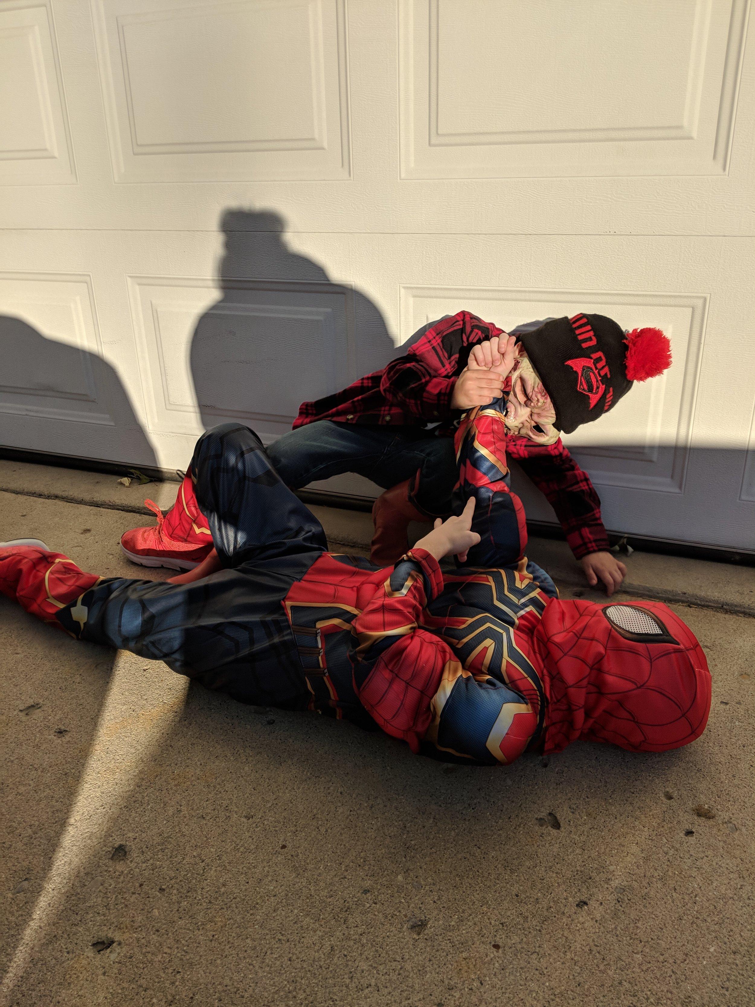 "Copy of Korey Mathena, Age 7, Richmond, IN, Perthes (left hip), ""Spider-Man"""