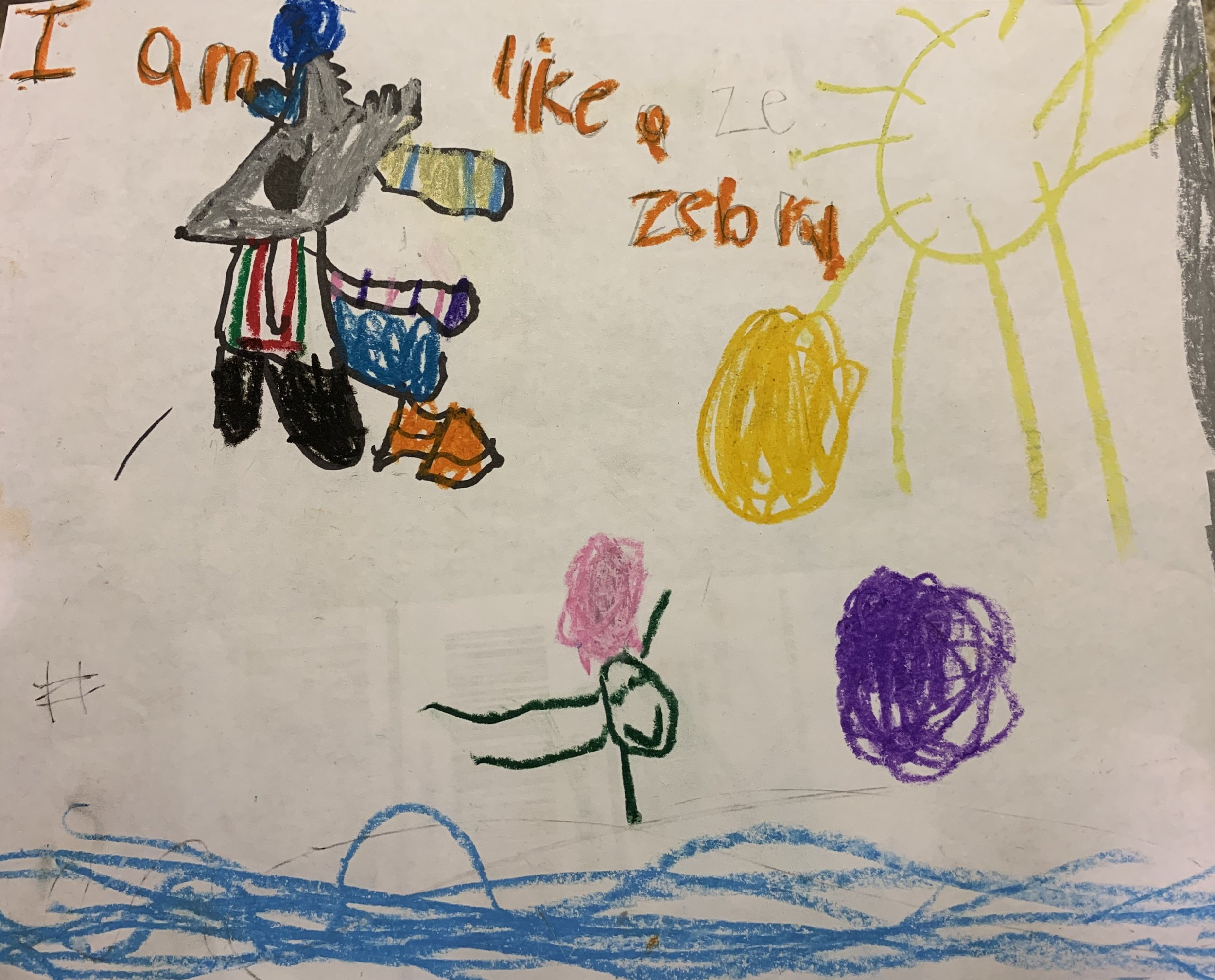 010 - I AM LIKE A ZEBRA by Hazel Birch (age 5.5) in Charlotte, North Carolina, USA