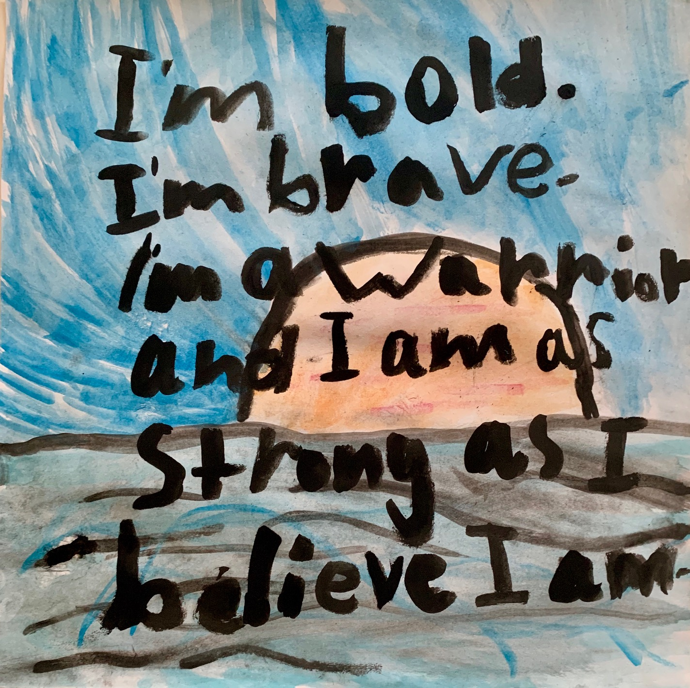 101 - BELIEVE by Everly Shultz (age 6) in Melbourne, Australia (sister has Perthes)