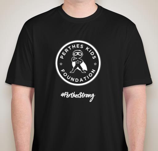 #PerthesStrong Performance Shirt (BLK, front) - by Sports Tek, fundraiser ends 3/16/19