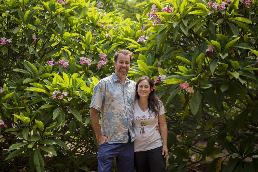 Tatyana and Robin of Kokua Sun Care at Koko Crater Botanical Garden