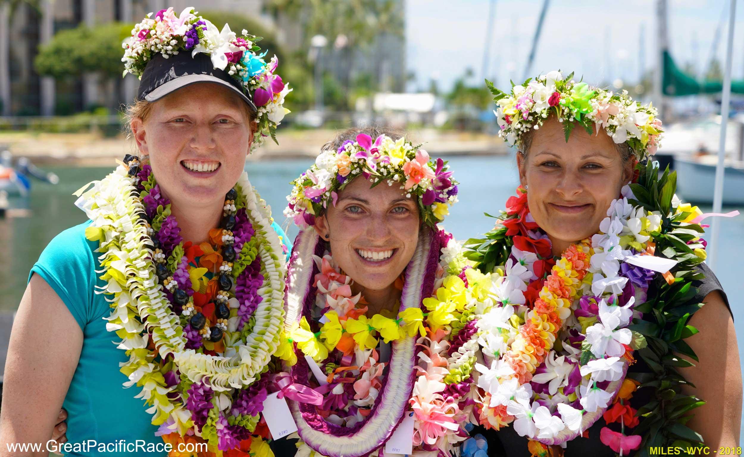 The Pacific Terrific Crew - Eleanor Carey (L), Cazz Lander (Center), Megan Hoskin (R)