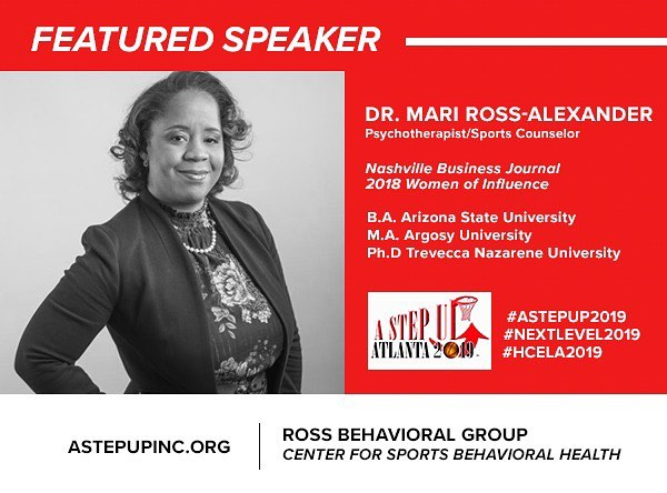 We are bringing you the BEST of the BEST in EVERY area!  Mental Health 🙃 Emotional Health 😩 Cultural competency 🧐  Dr. Mari Ross Alexander has all the insight to help you help your players succeed!  Early bird pricing ends TOMORROW.  Register NOW: astepupinc.org #AStepUp2019