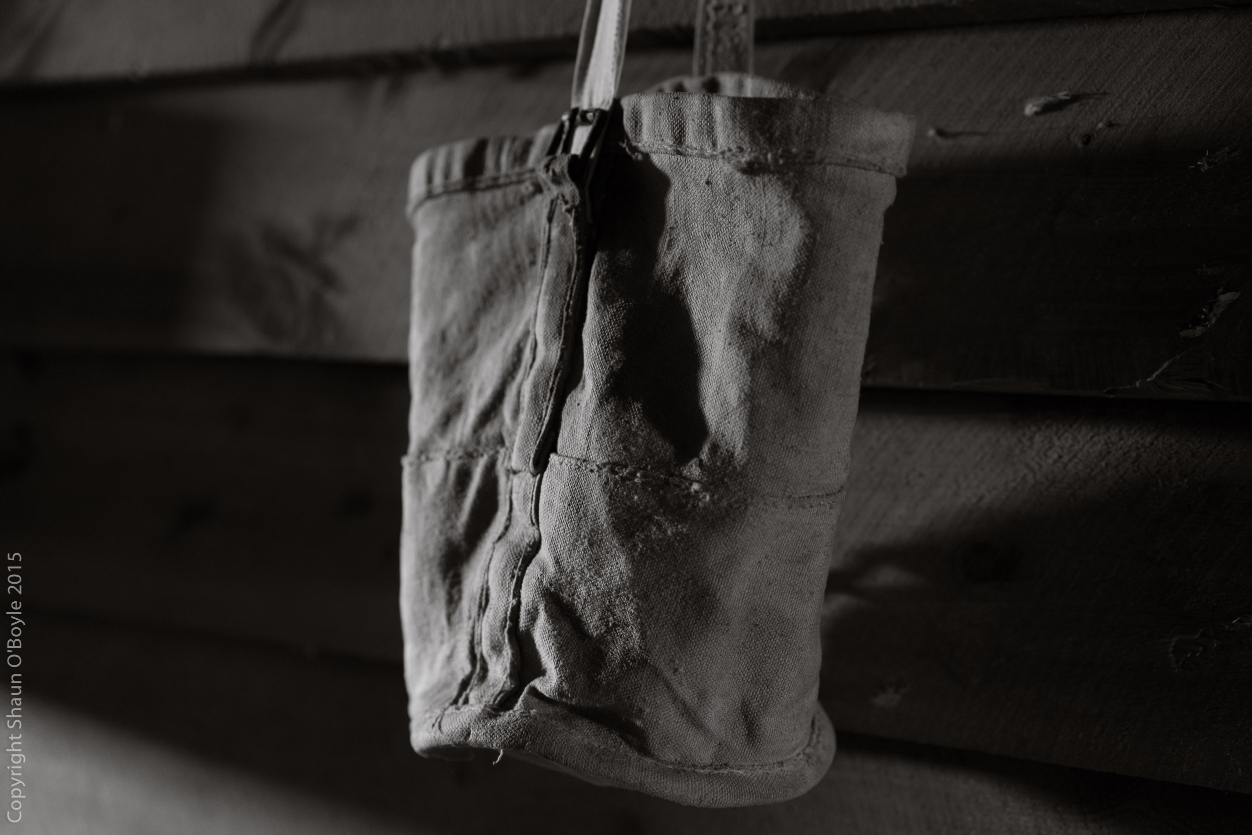 Pony and mule nose bag, stables at Cape Evans.