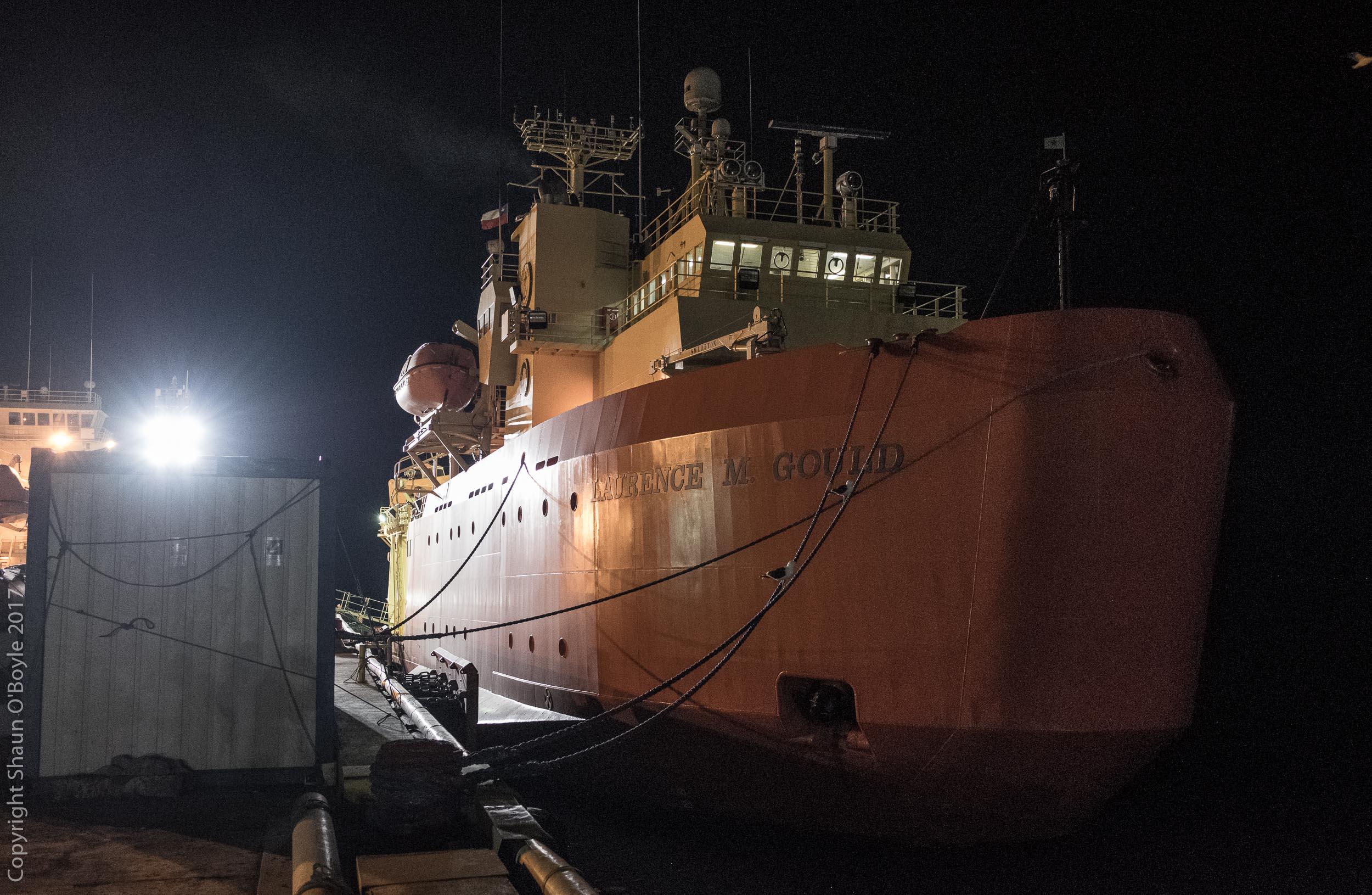 LMG at berth in Punta Arenas the night before we embarked for Antarctica