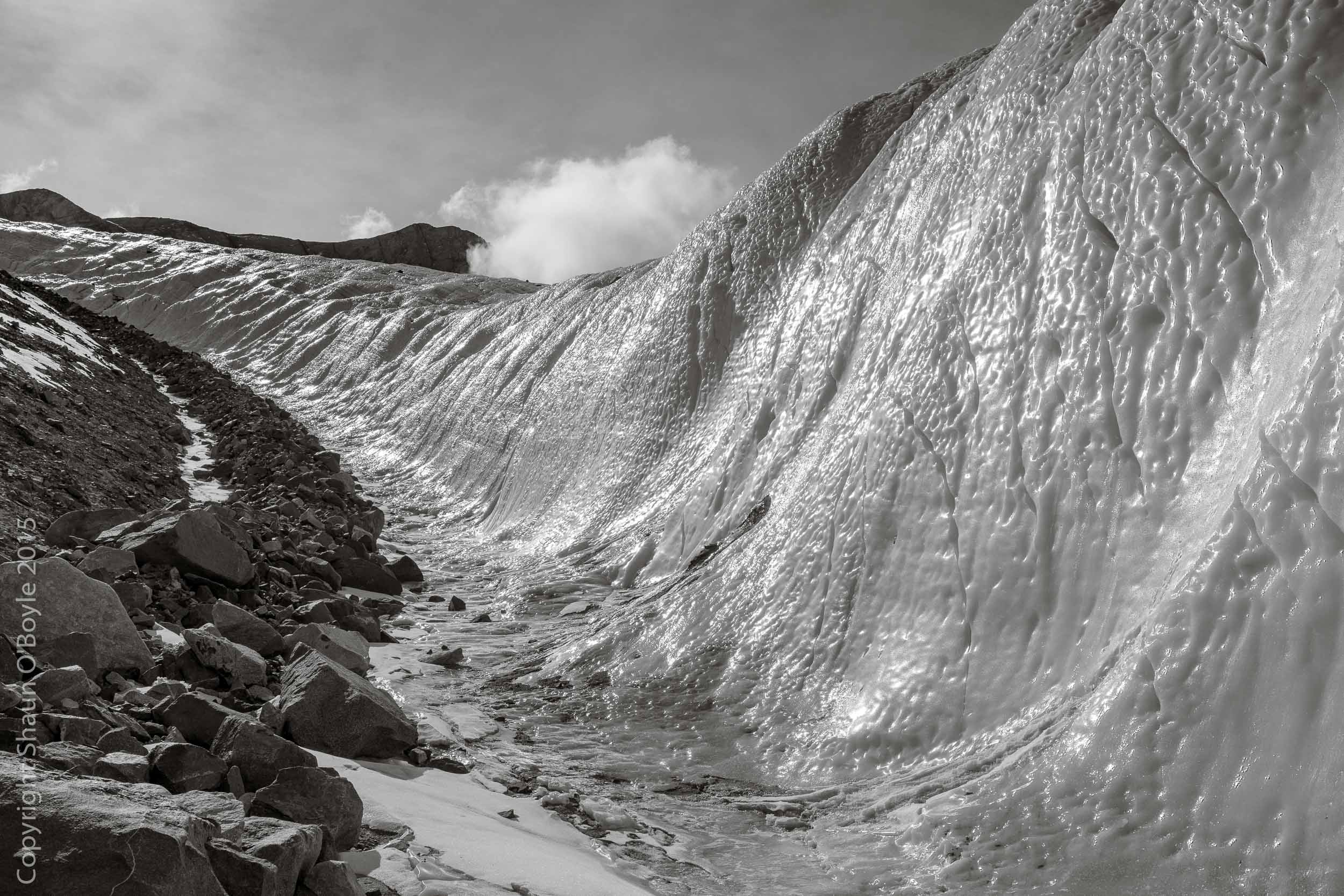 Lateral moraine of the Canada Glacier, Taylor Valley, Antarctica