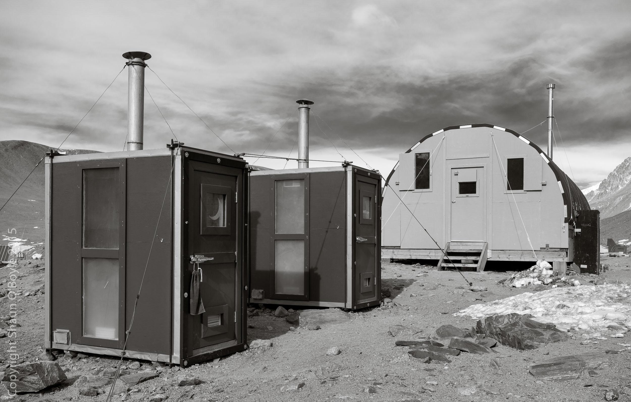 Rocket Toilets at Lake Hoare Station.