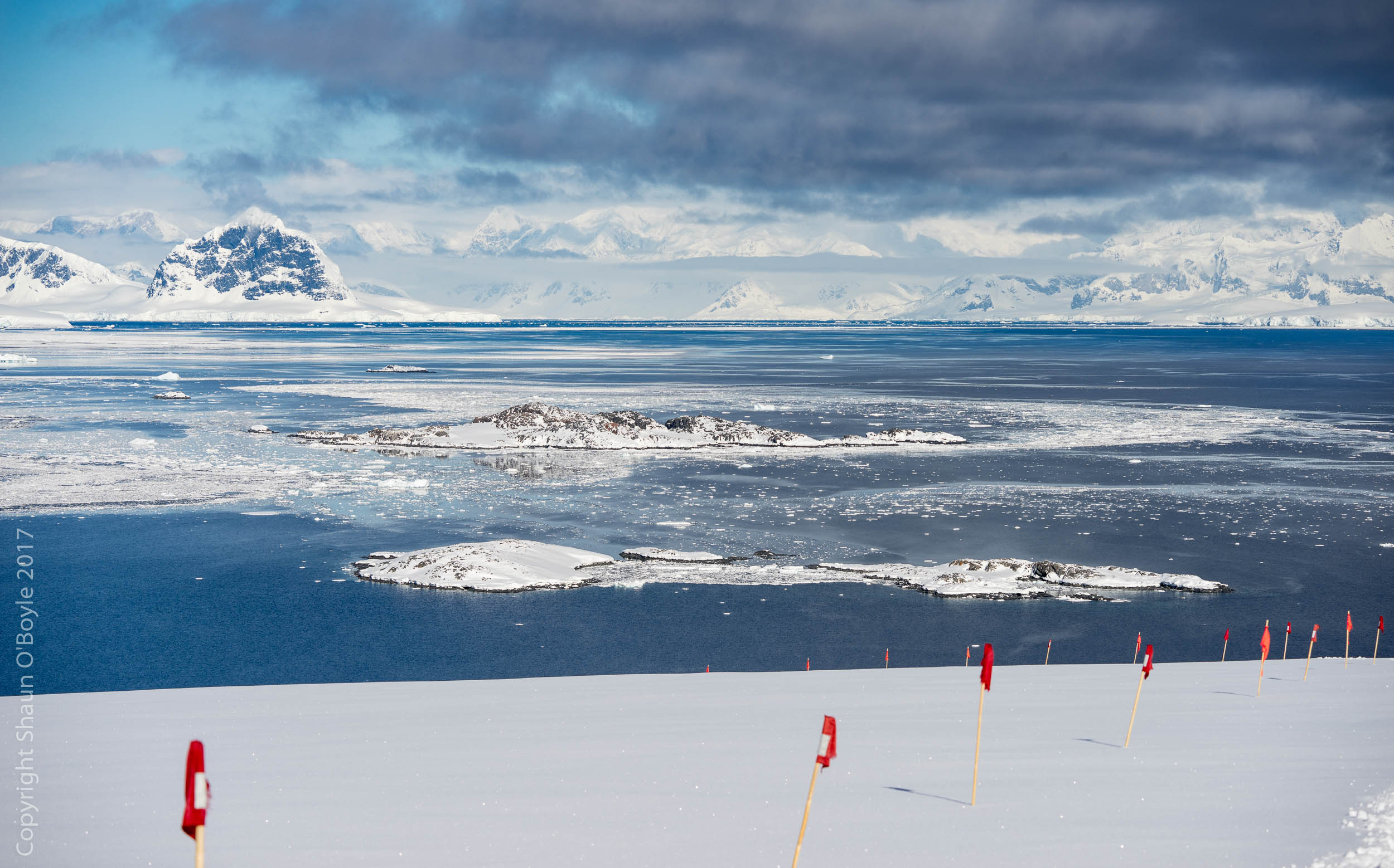 Looking East across the Bismark Strait to the Antarctic Penninsula