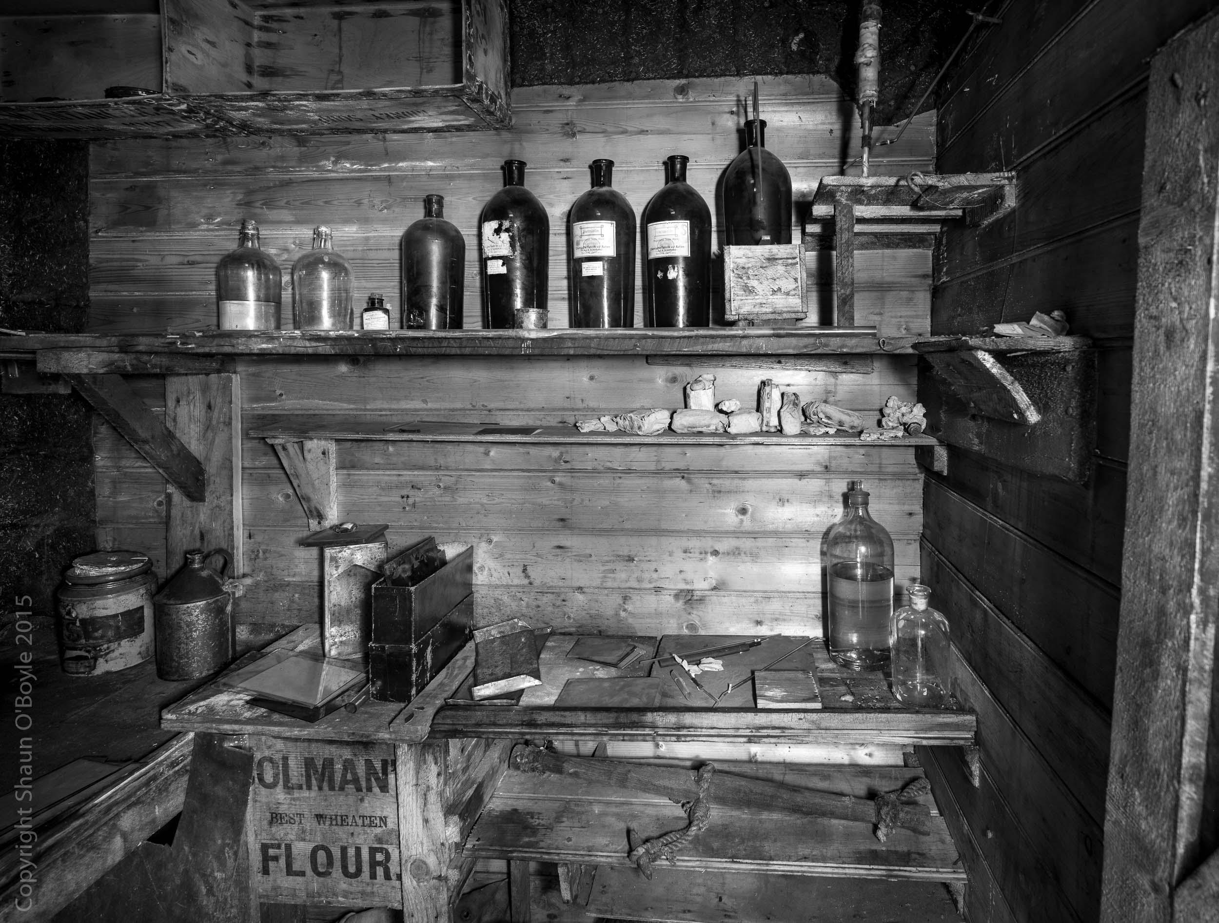 Darkroom, Shackleton's Cape Royds hut