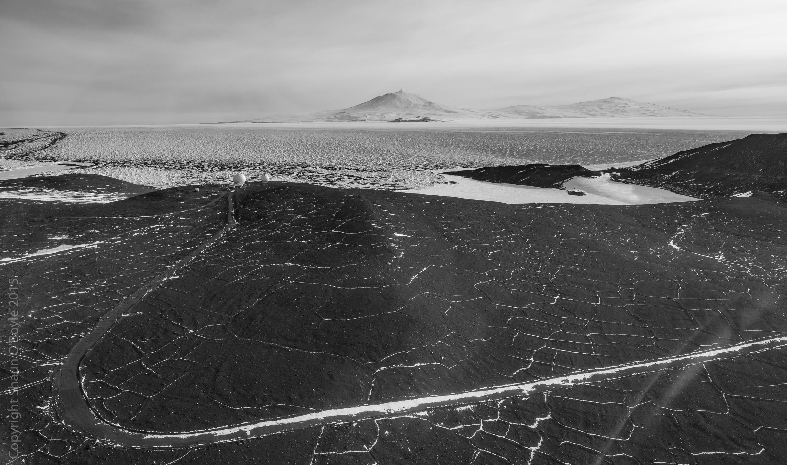 Road on Black Island is used when a traverse from McMurdo is necessary to bring supplies or equipment to the station.