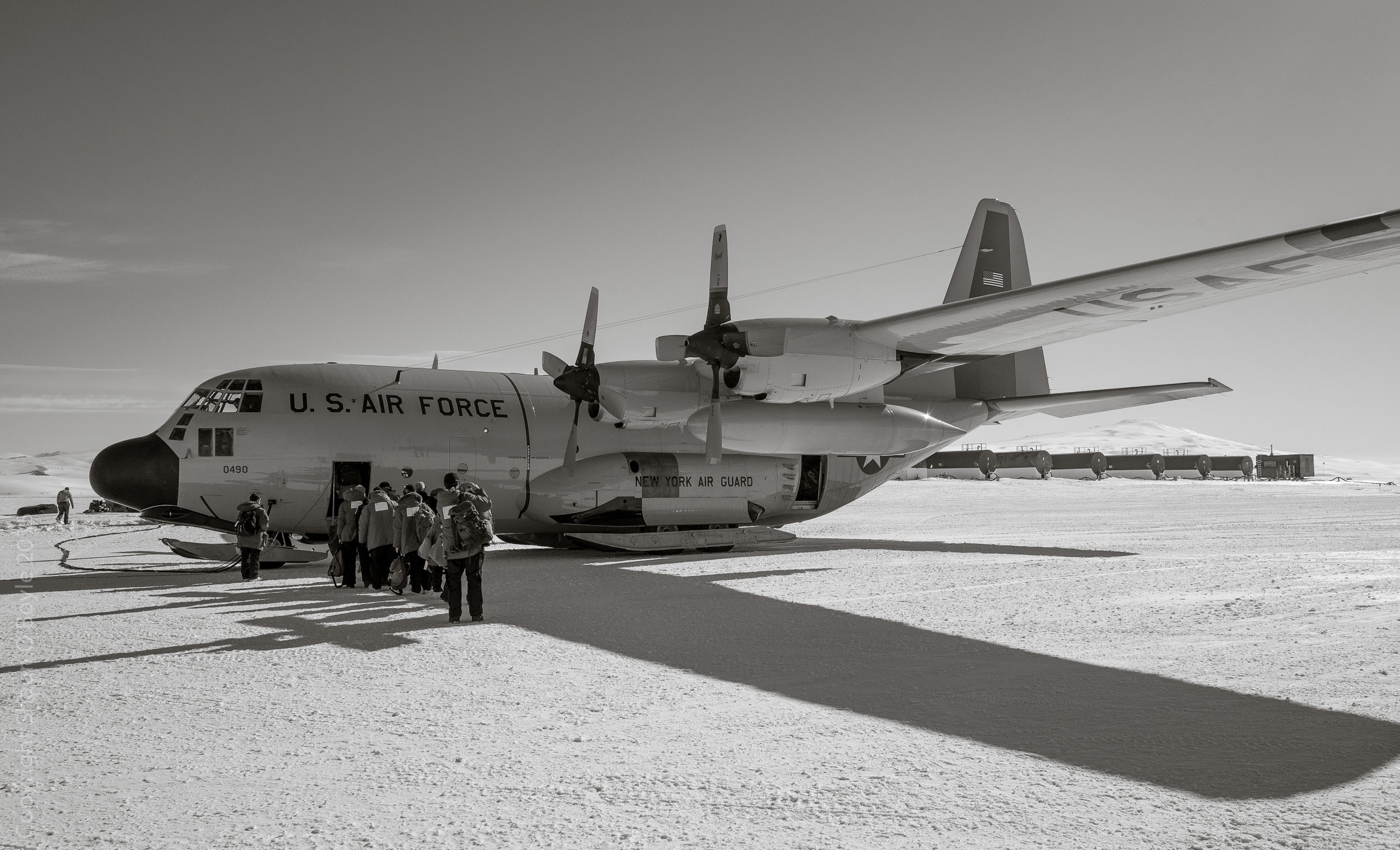 Loading up on the LC-130 for flight to Christchurch, NZ