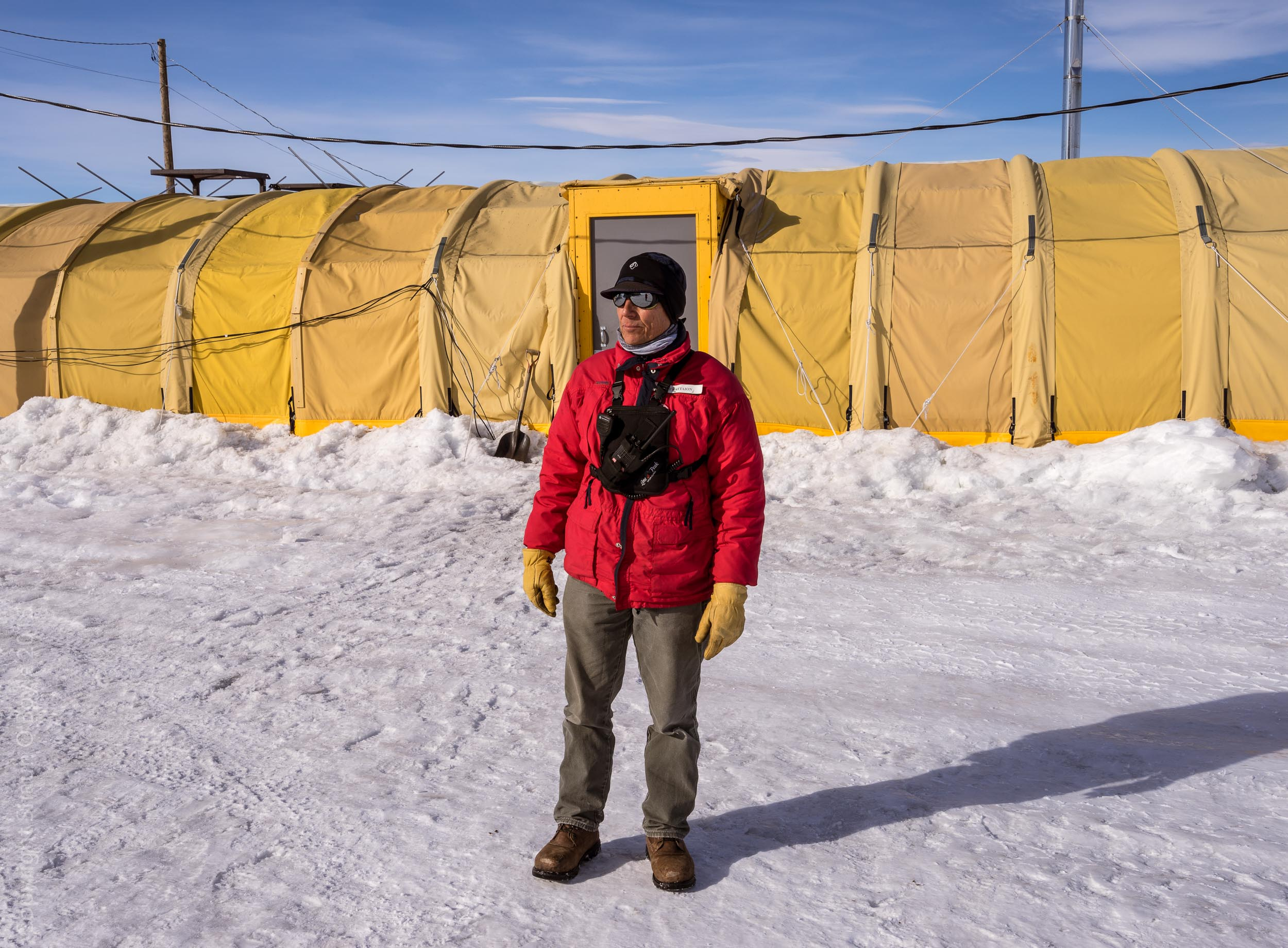 Scott Battaion, LDB camp manager gave me an overview of the project and a tour of the site before letting me photograph on my own.