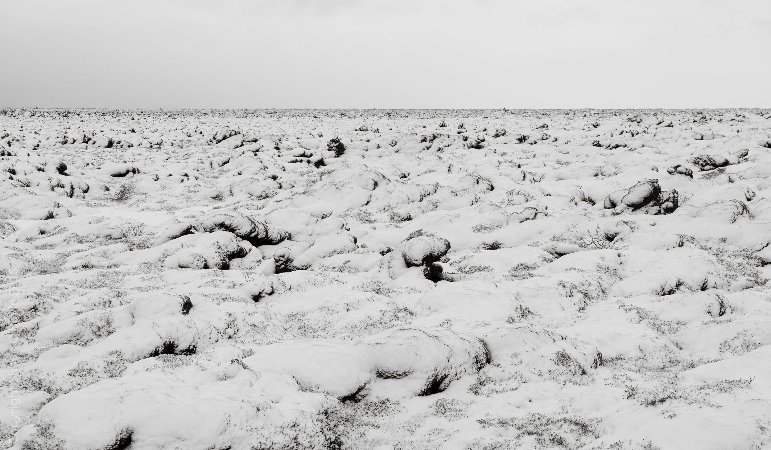 Eldhraun Lava Field after a fresh snow