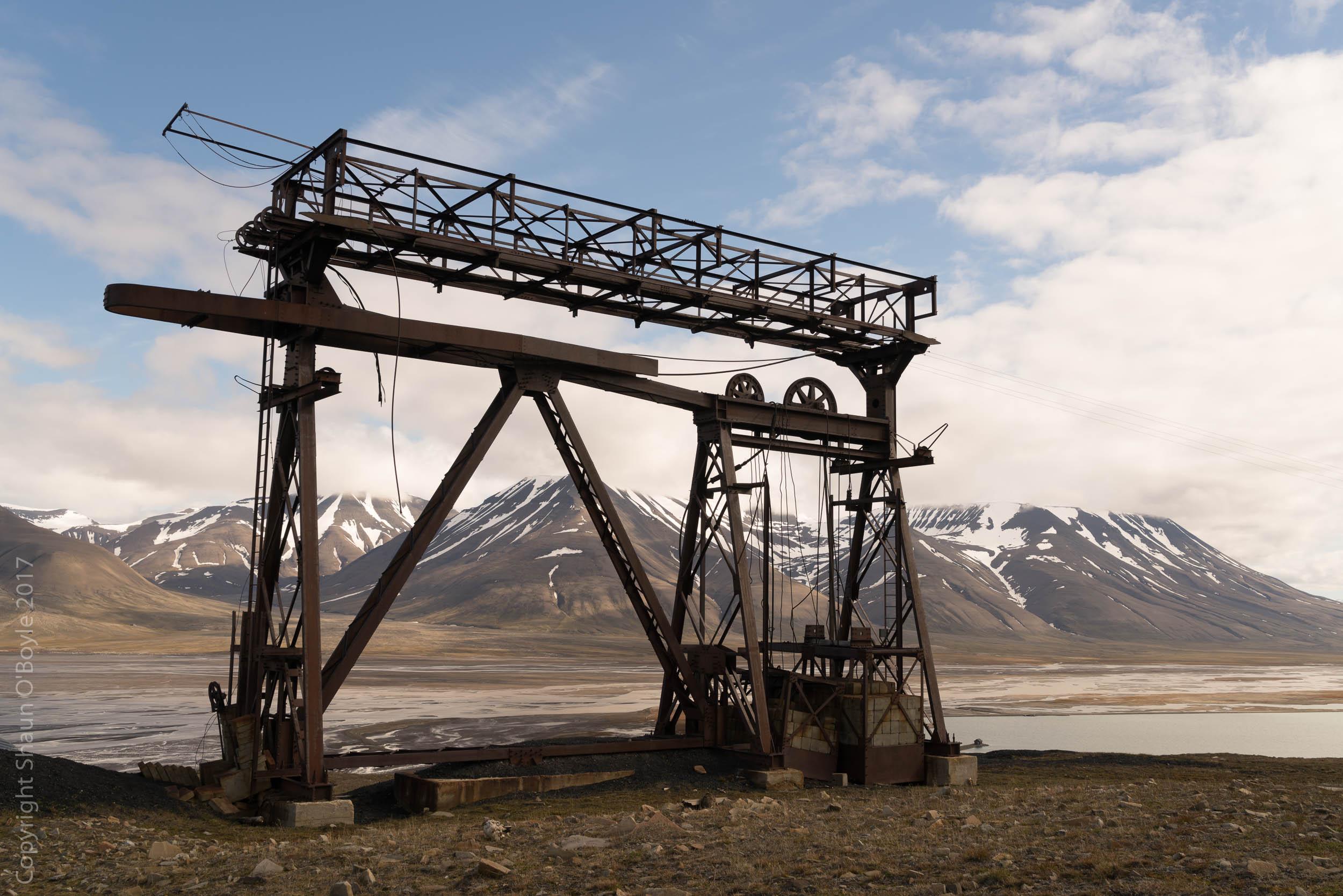 Cableway used to transport coal, Longyearbyen, Spitsbergen