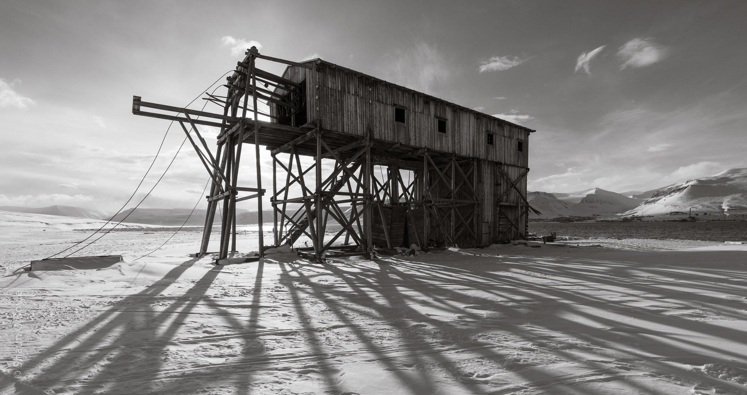 Early 1900's Coal Cableway station at Hiorthamn, Spitsbergen