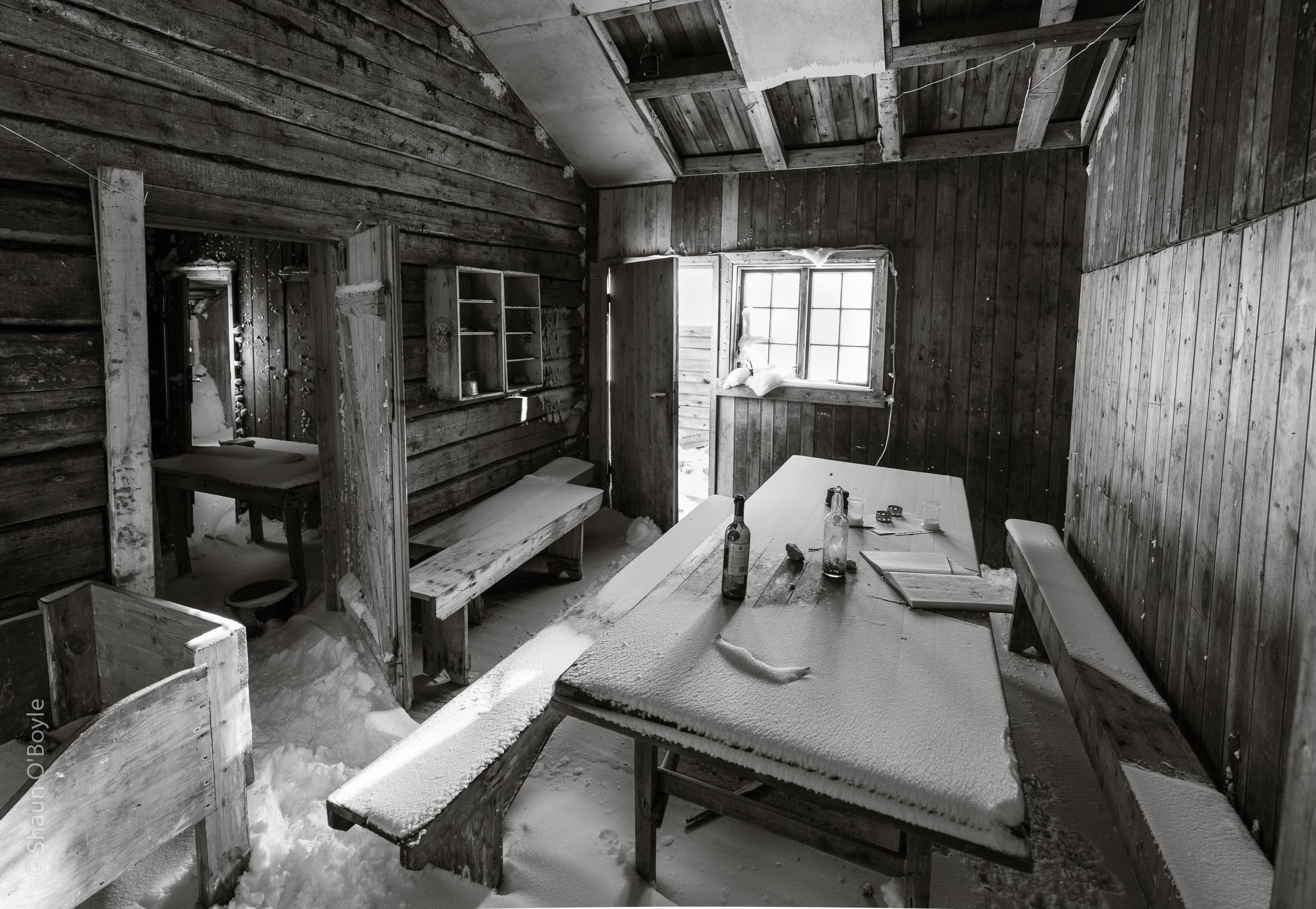 Early 20th century coal miners cabin interior