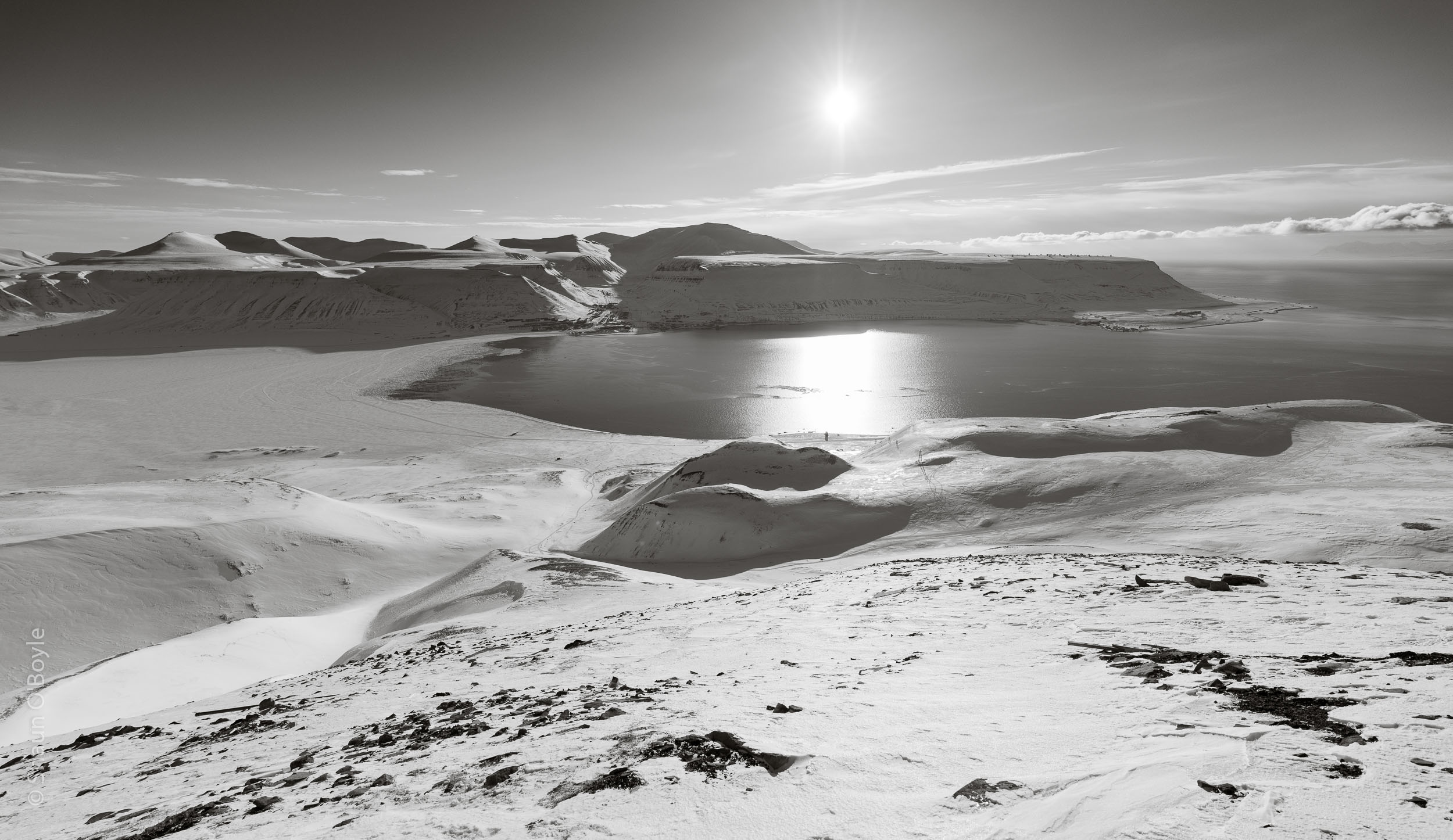Advent Fjord and Longyearbyen