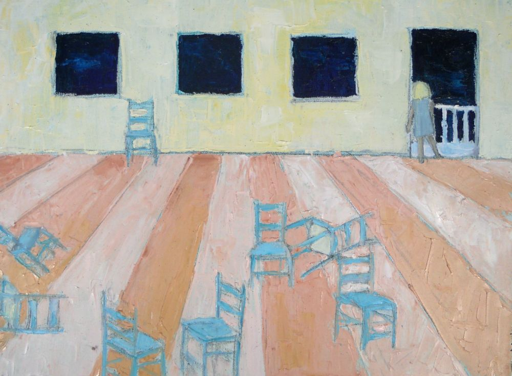 "stalingrad :: 18""x24"" :: oil on canvas"