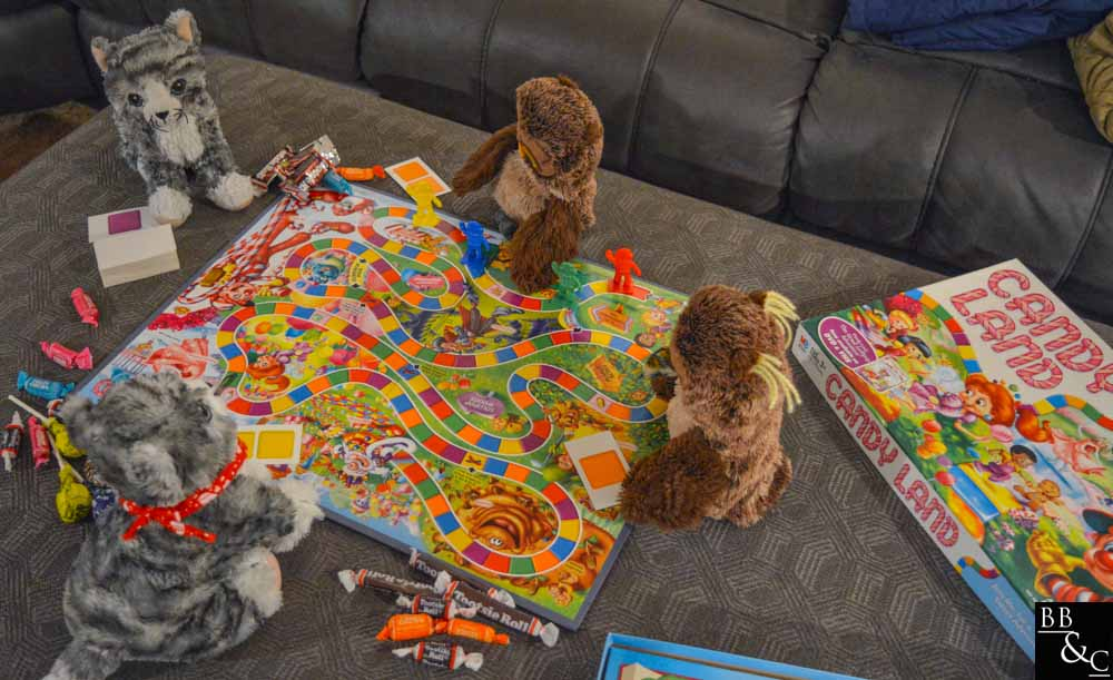 time is best spent with friends, lets play candy land!