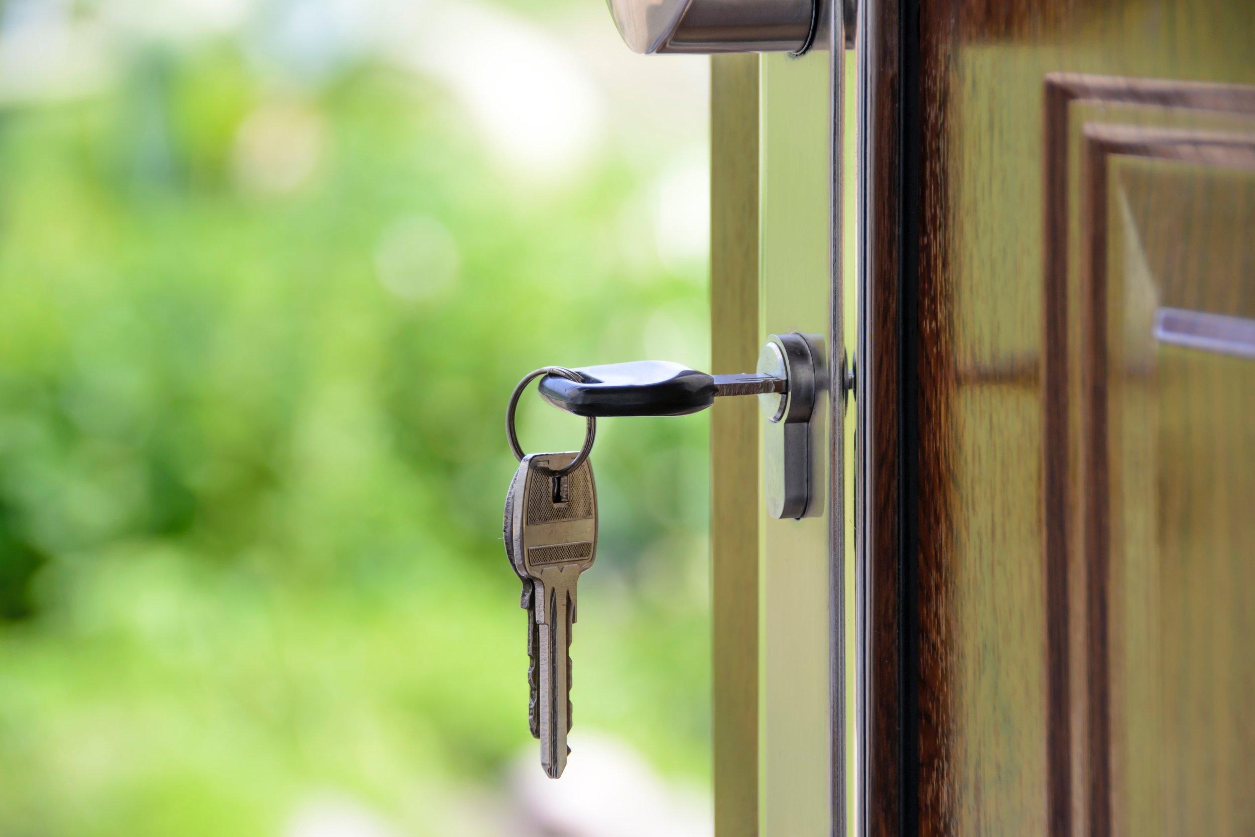 Vi bistår deg til nøkkelen er i døren