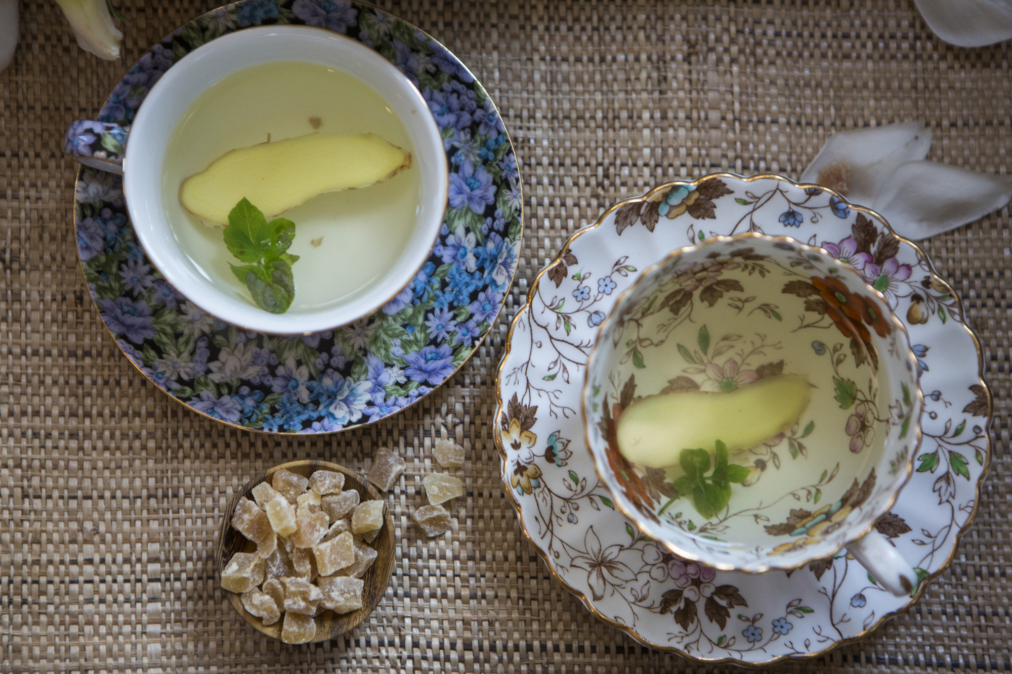 Lemon, Ginger, Mint Digestion Tea