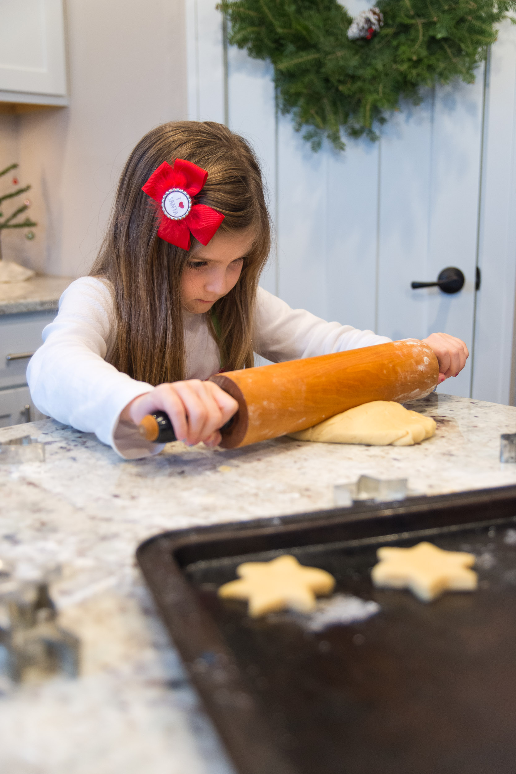 Kids kitchen baking holiday photo portrait | Photo by BillyBengtson.com