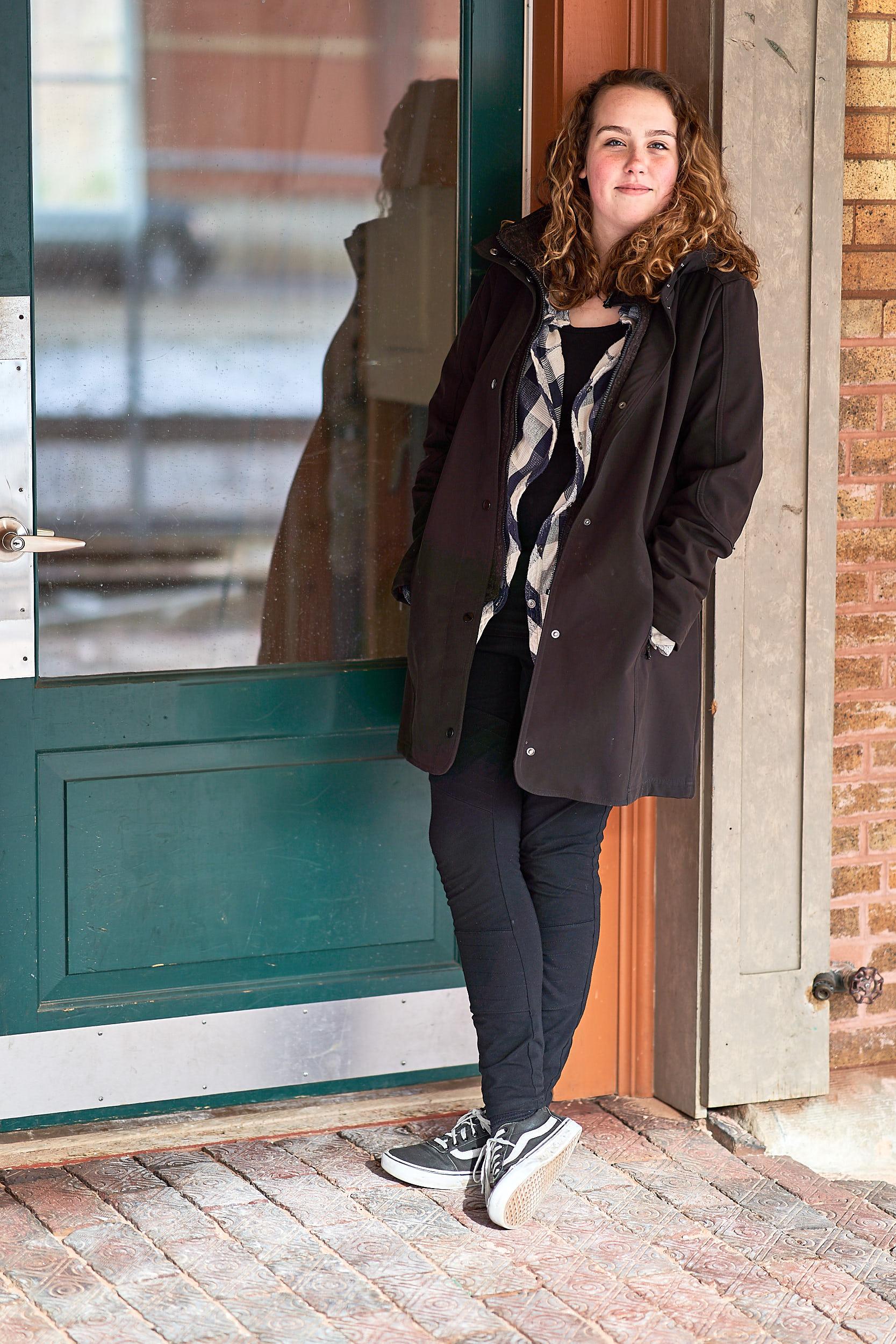 Teenage Girl Doorway Portrait | Photo By BillyBengtson.com