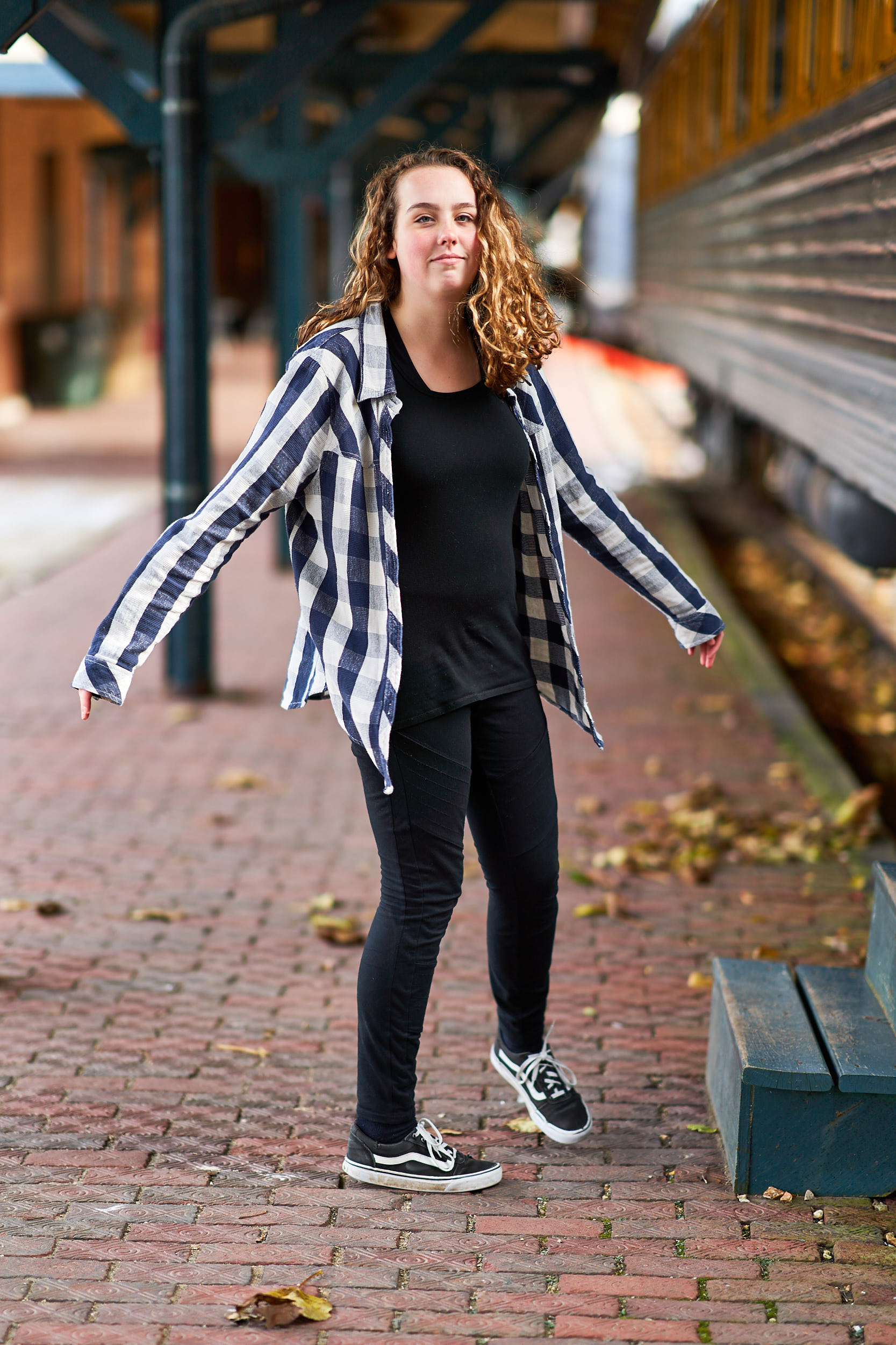 Teenage Girl Downtown Train Portrait | Photo By BillyBengtson.com