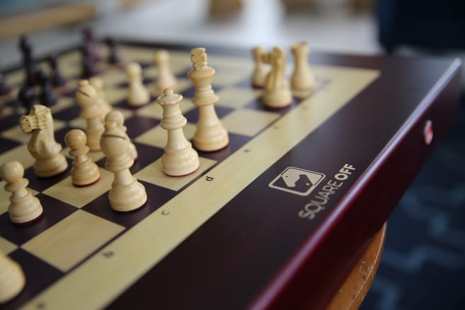 The Squareoff chess board