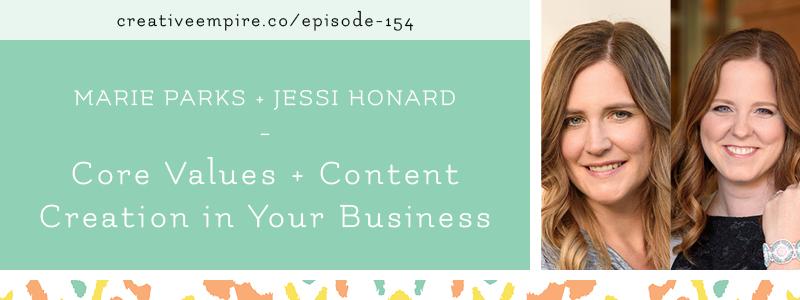Email Header | Episode 154 | Marie Parks + Jessi Honard