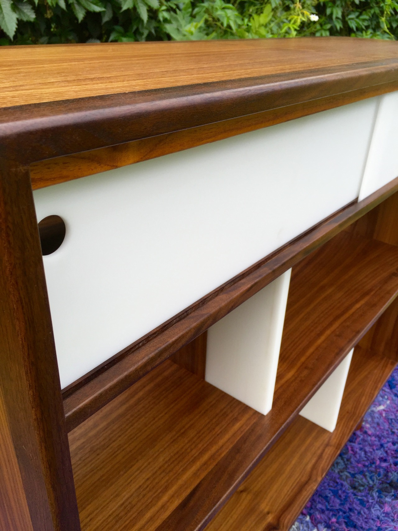 Image of: Teak Danish Mid Century Modern Bookcase Cream Modern