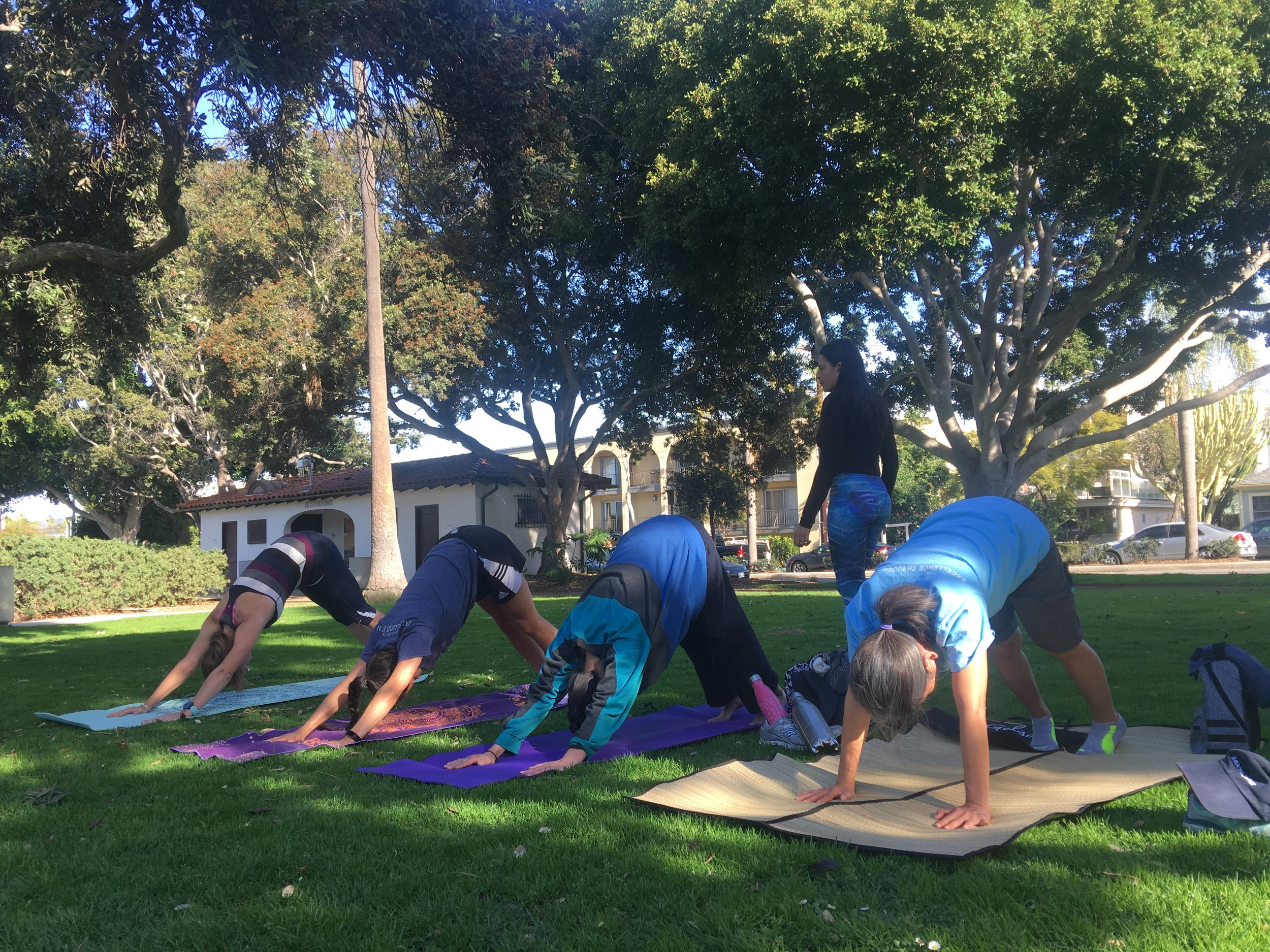 Yoga at Hotchkiss Park in Santa Monica