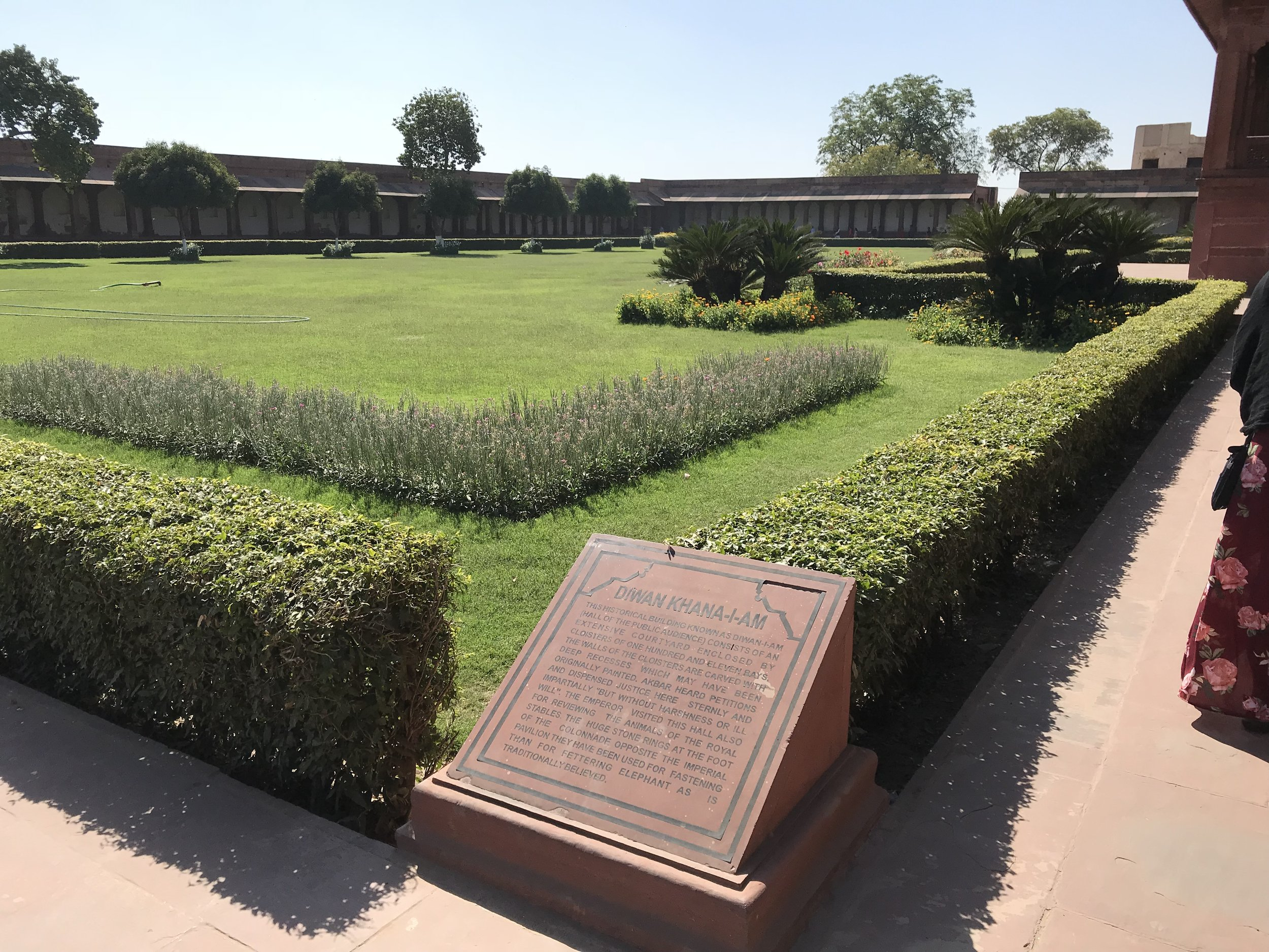 Coutyard where justice would be read by Akbar.