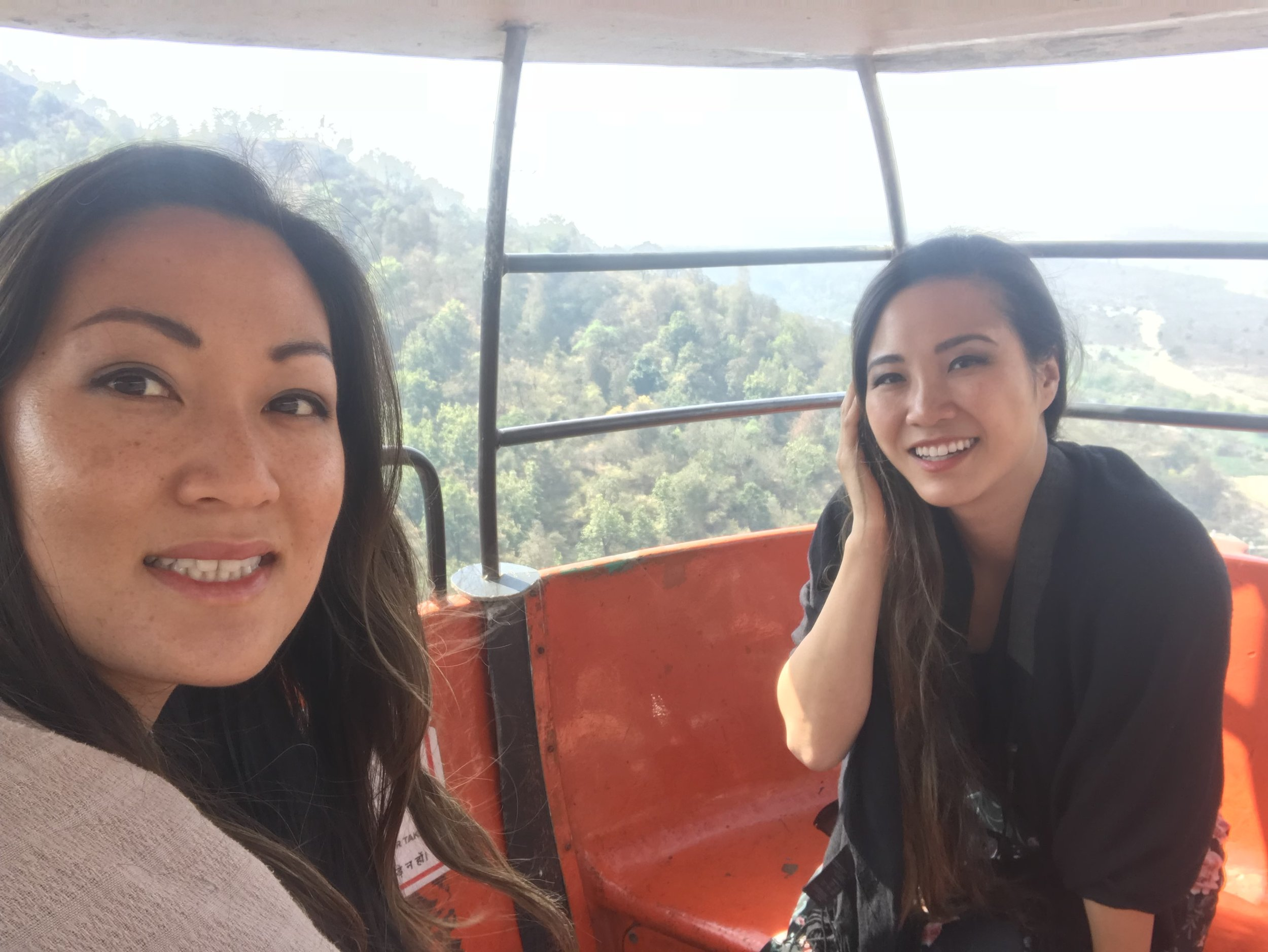 On the Ropeway to Chandi
